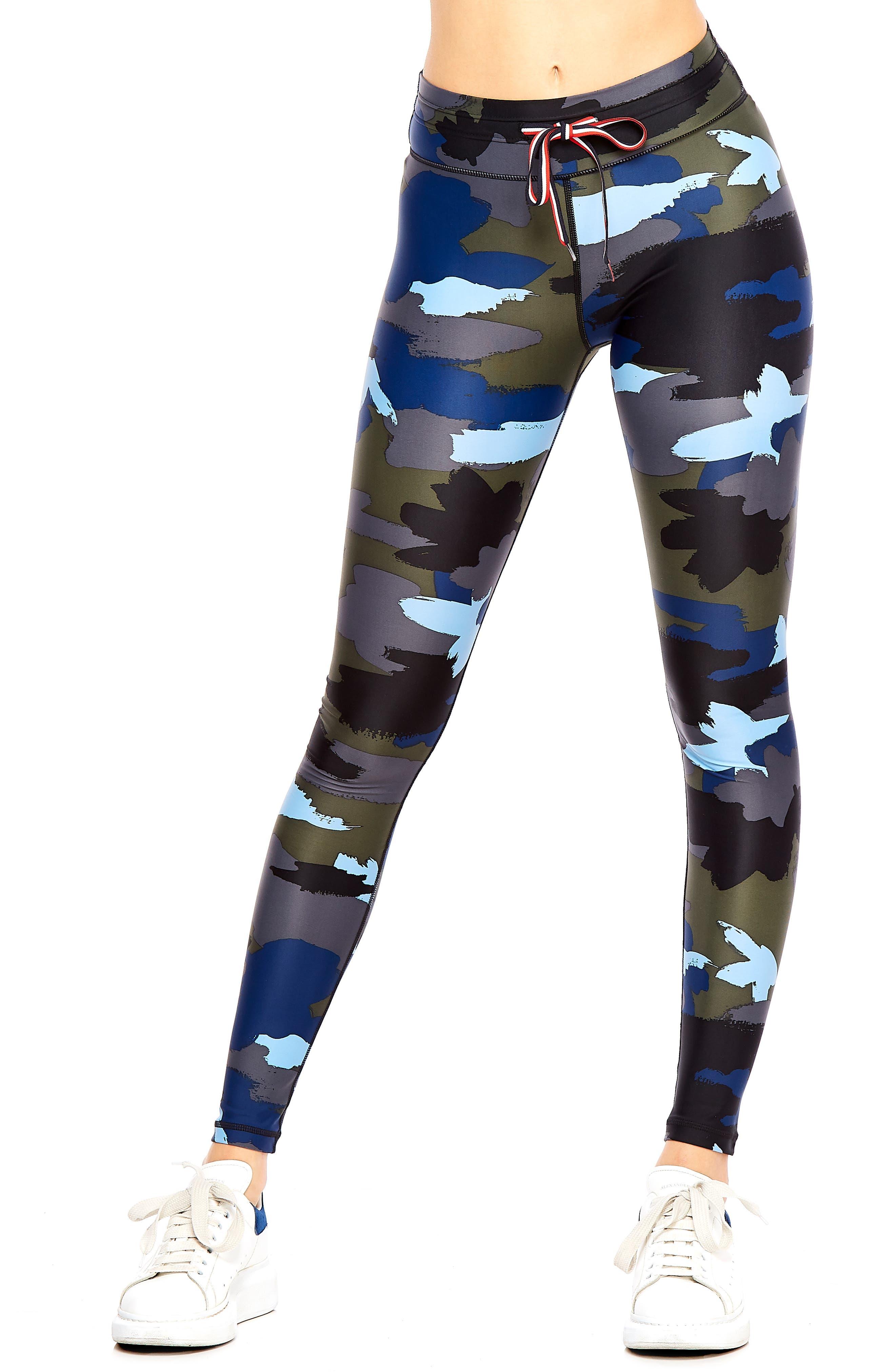 Abstract Camo Yoga Leggings, Main, color, BLUE MULTI