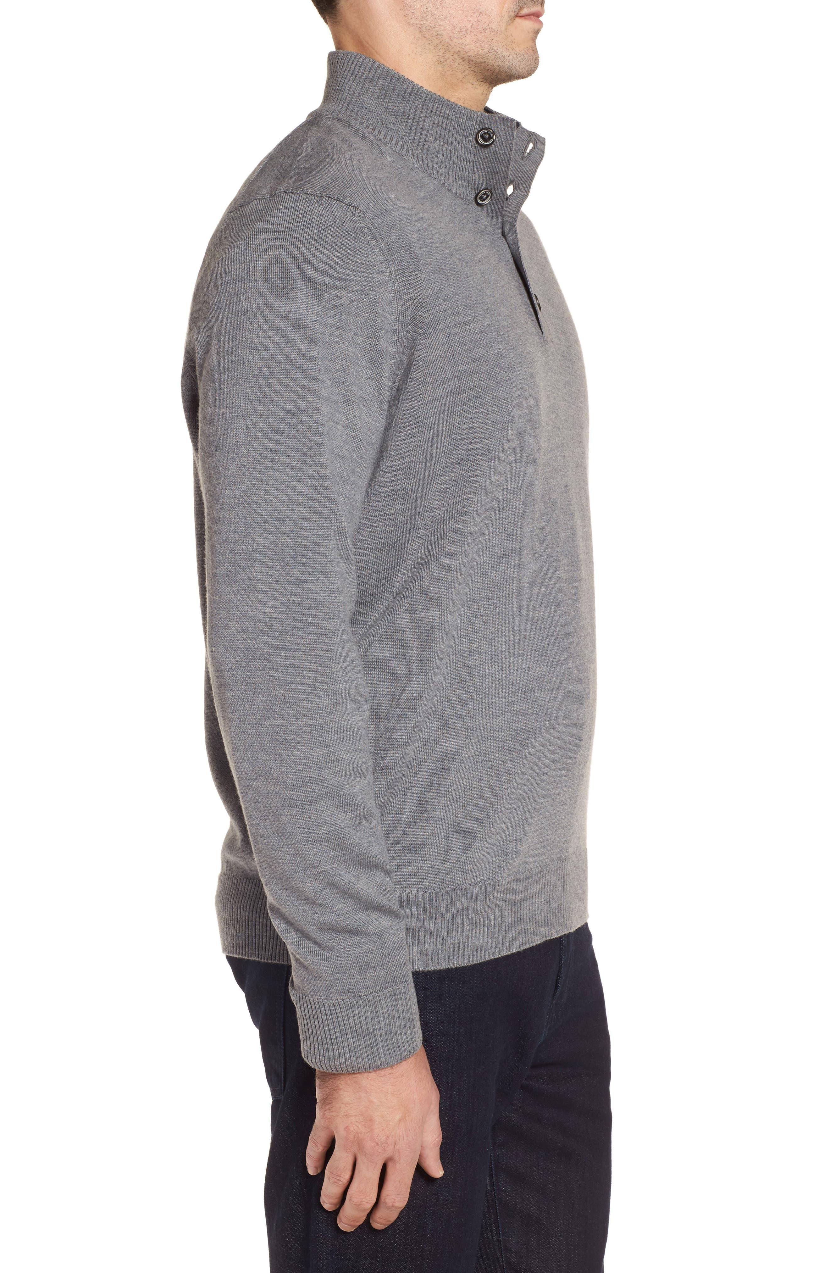 Merino Wool Blend Mock Neck Sweater,                             Alternate thumbnail 8, color,