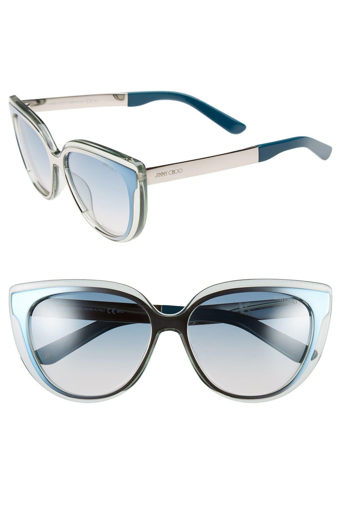 'Cindy' 57mm Retro Sunglasses,                             Main thumbnail 4, color,