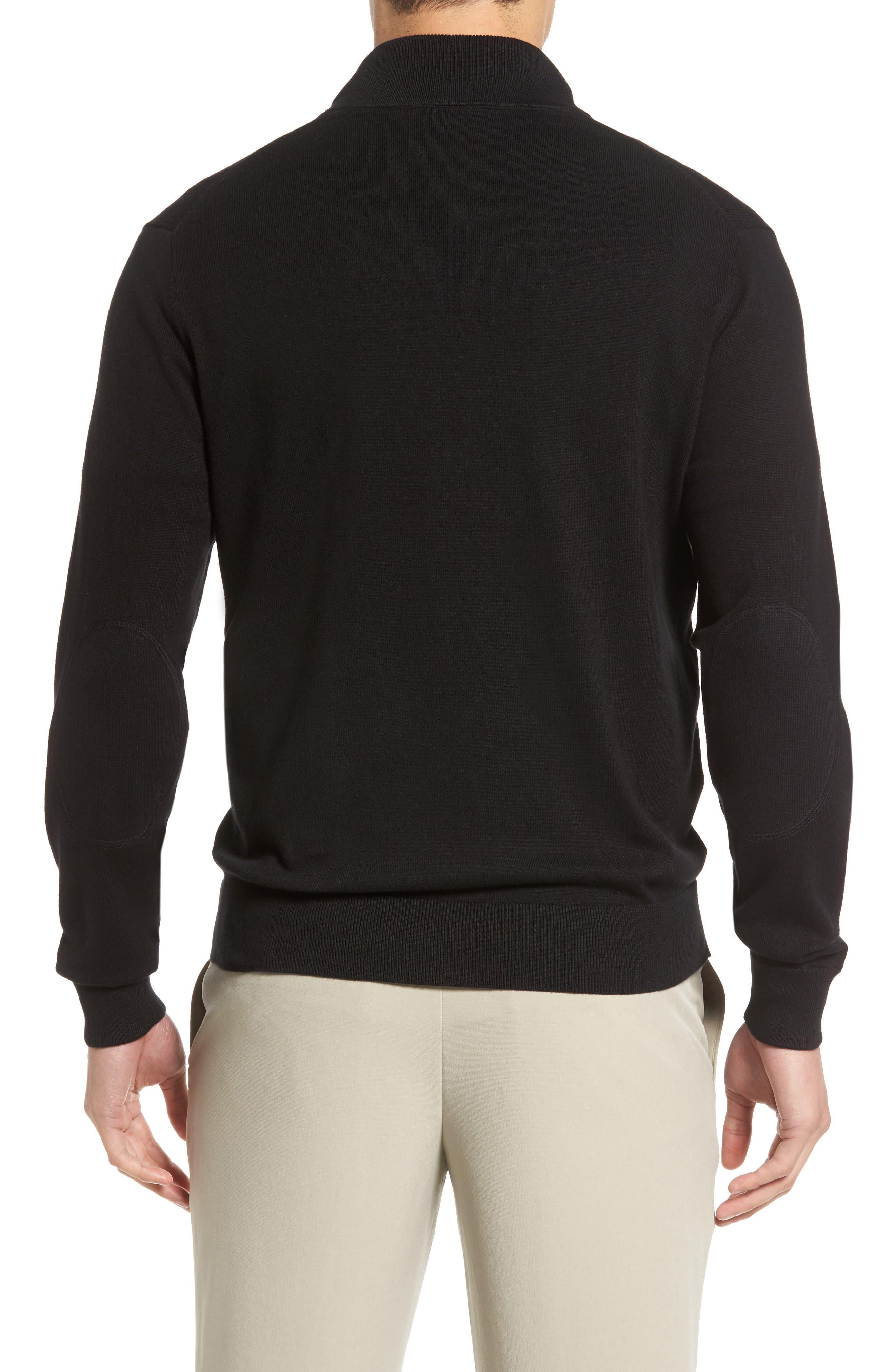 Lakemont Half Zip Sweater,                             Alternate thumbnail 2, color,                             BLACK