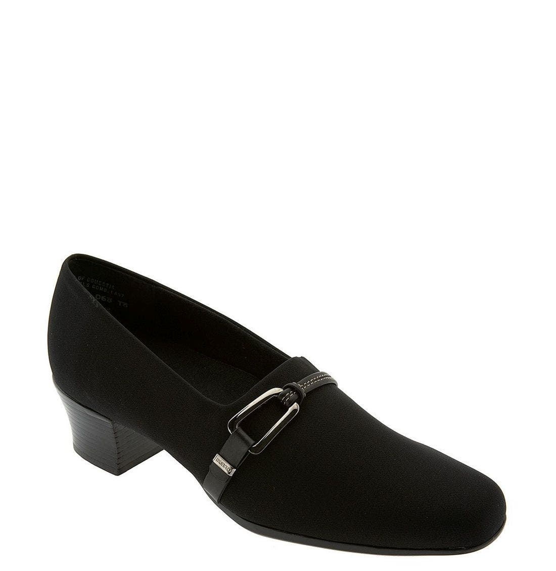 MUNRO 'Cindi' Pump, Main, color, BLACK STRETCH FABRIC
