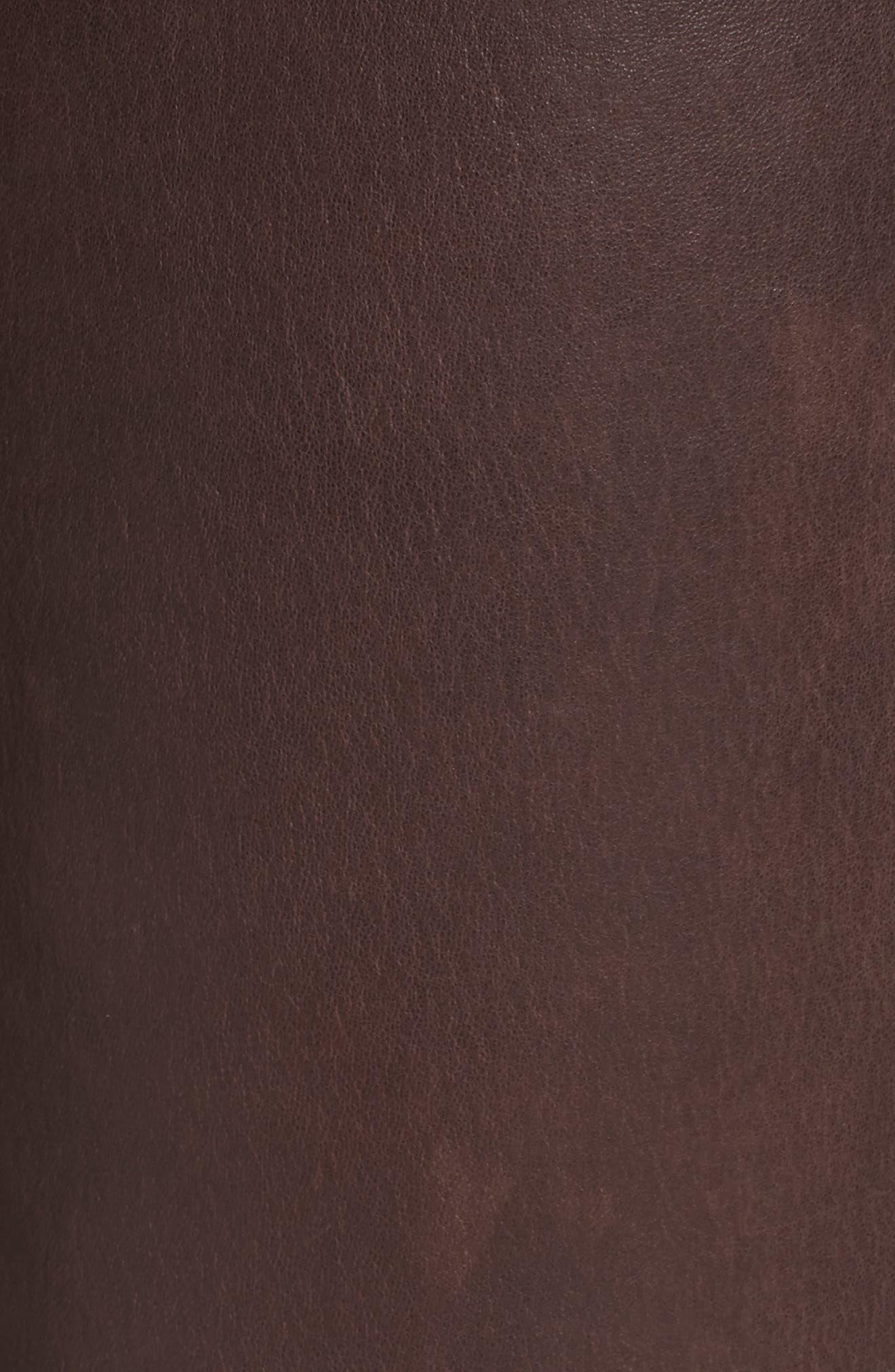 Lambskin Leather Pants,                             Alternate thumbnail 19, color,