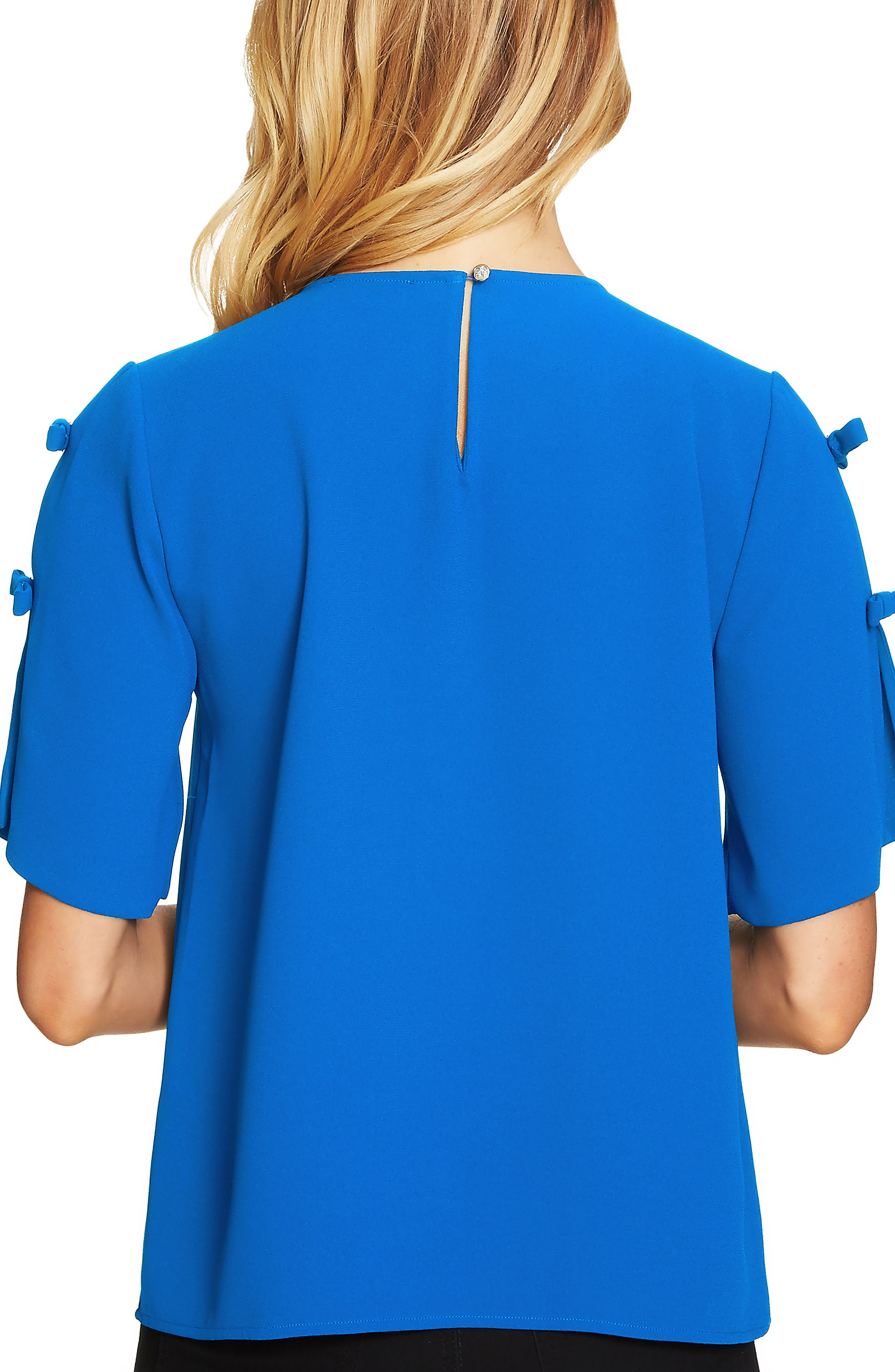 Split Sleeve Moss Crepe Blouse,                             Alternate thumbnail 2, color,                             418