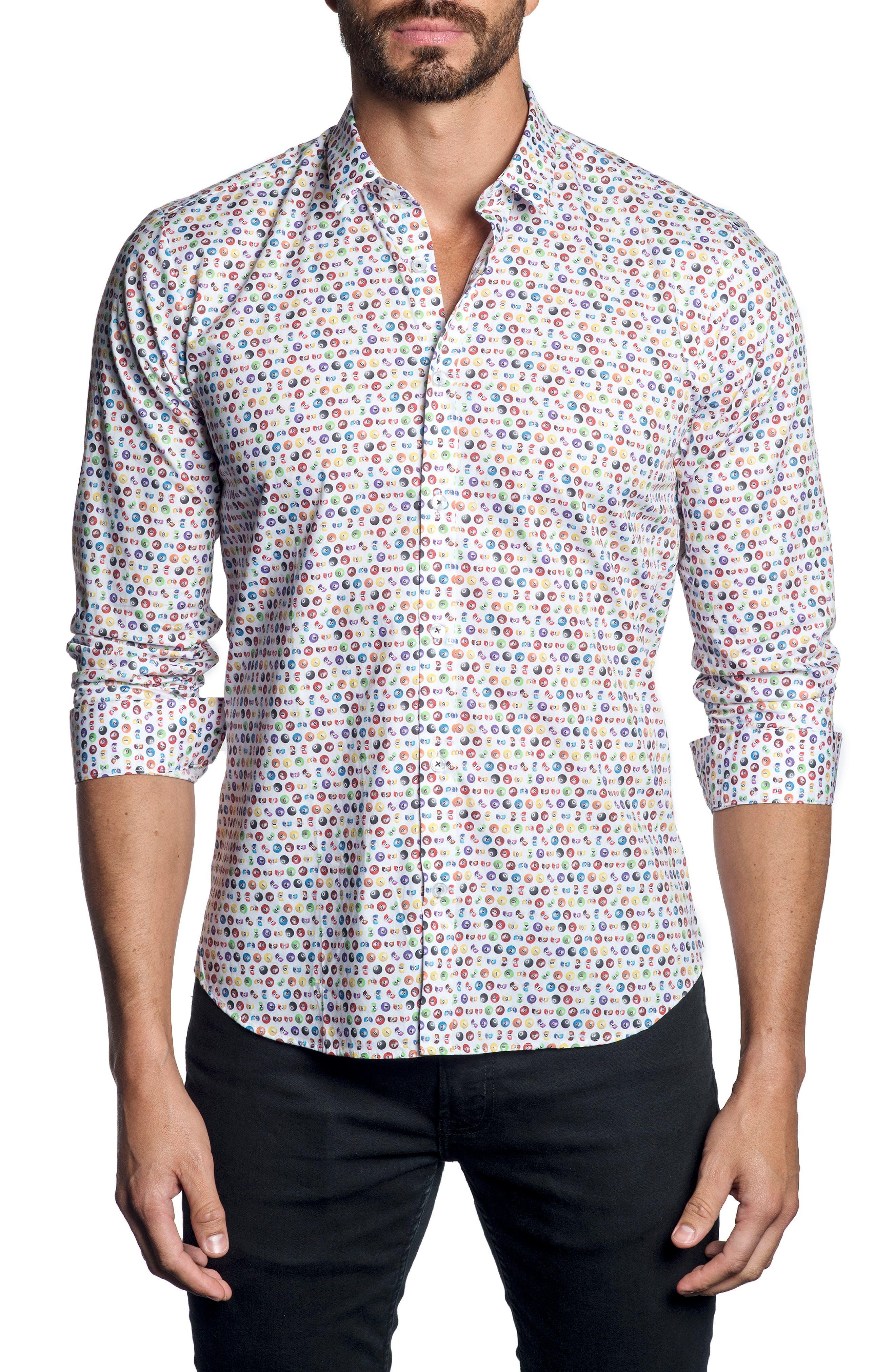 Billiards Print Sport Shirt,                         Main,                         color, 100