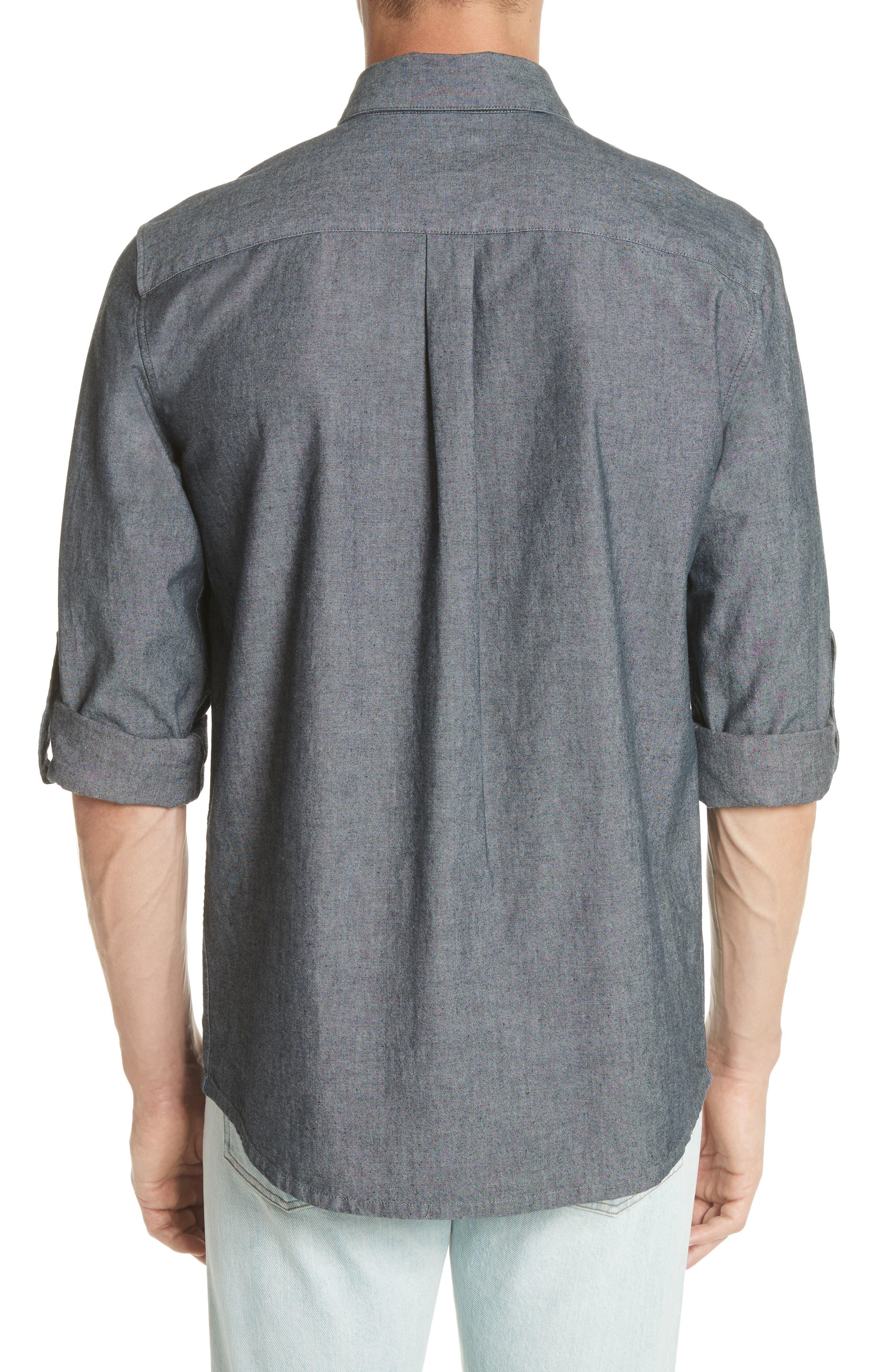 Reno Solid Sport Shirt,                             Alternate thumbnail 2, color,                             INDIGO