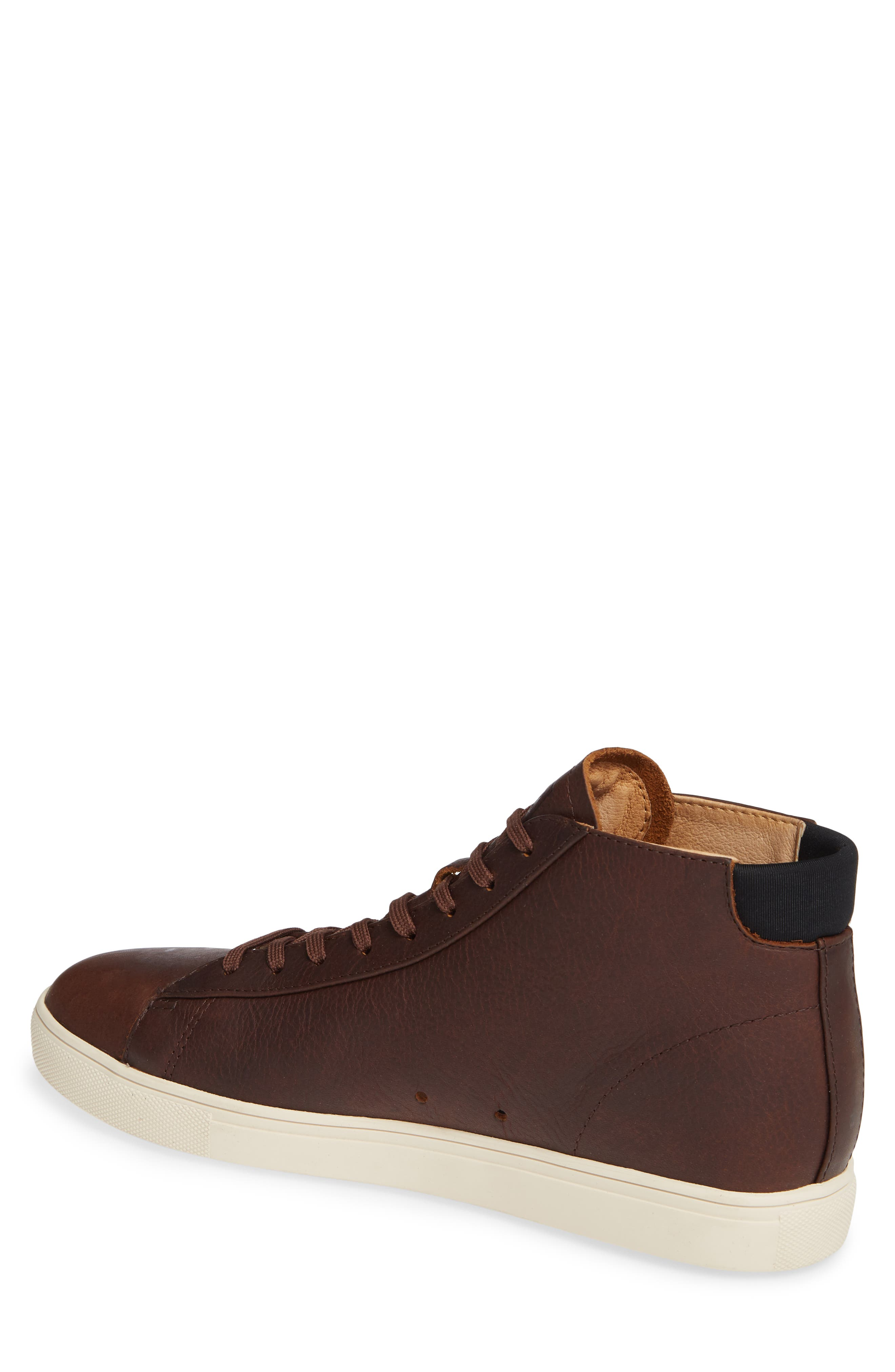 'Bradley Mid' Sneaker,                             Alternate thumbnail 2, color,                             COCOA LEATHER
