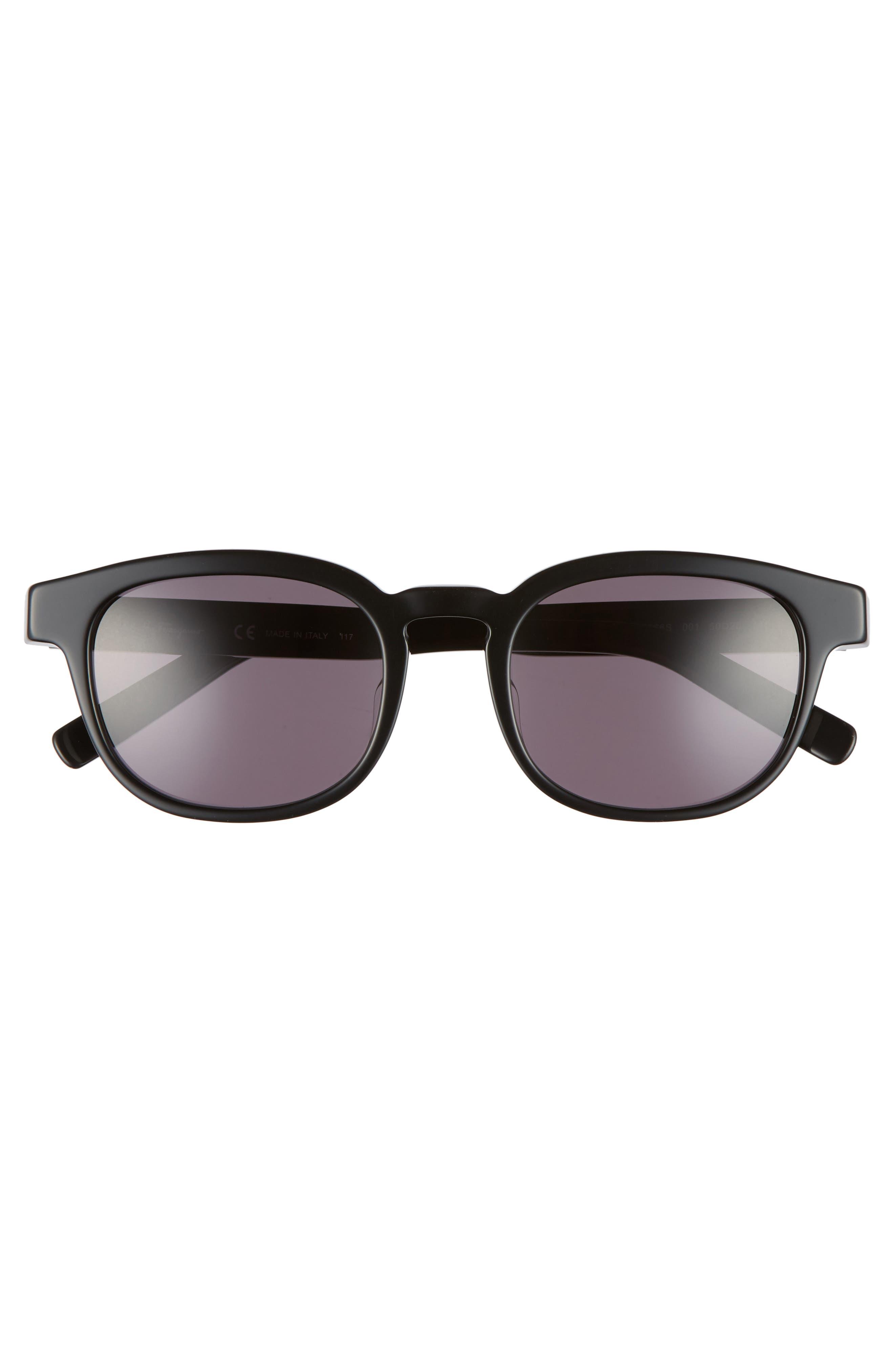 866S 50mm Sunglasses,                             Alternate thumbnail 2, color,                             BLACK