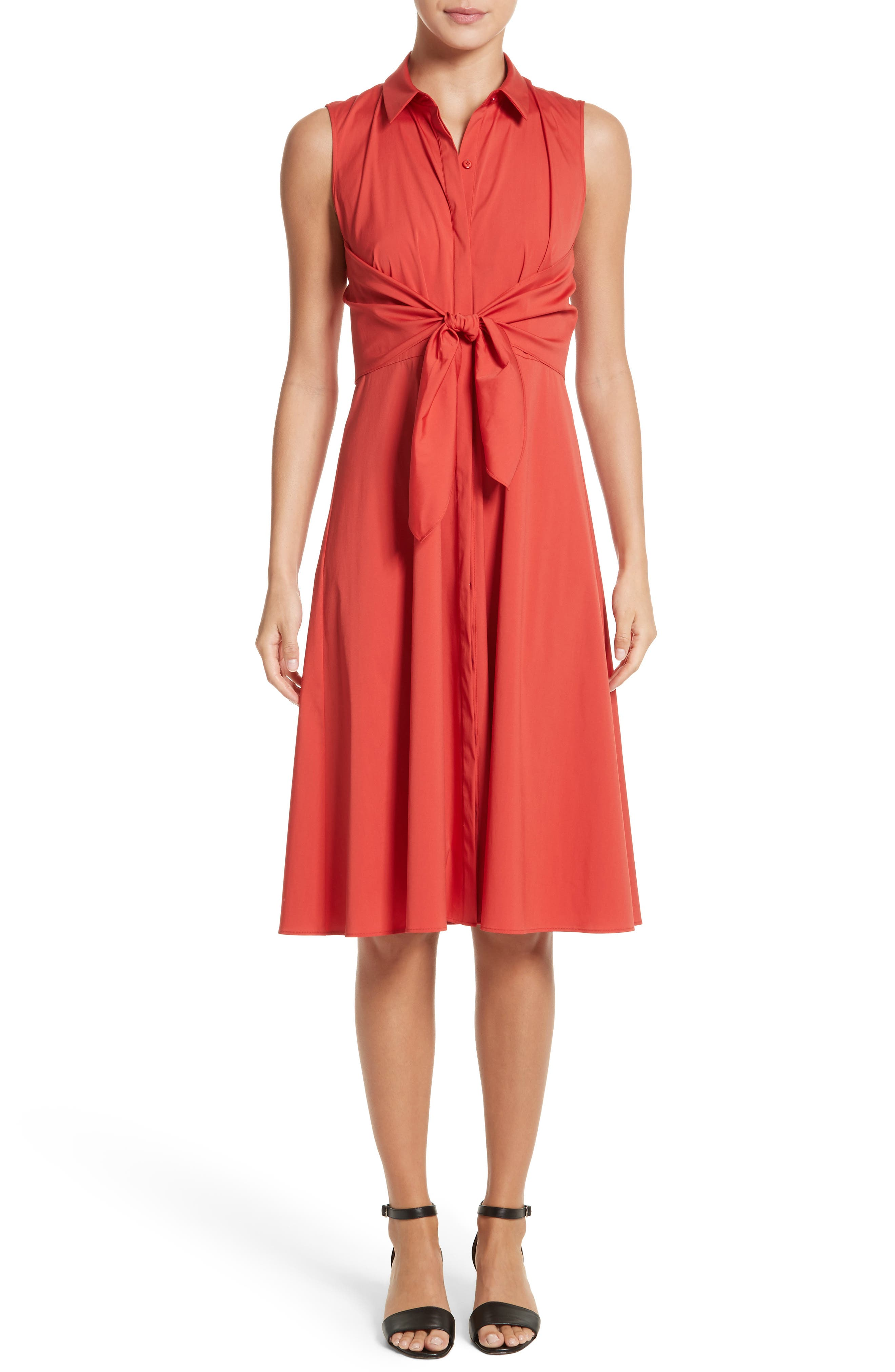 Mariel Knotted Shirtdress,                         Main,                         color,