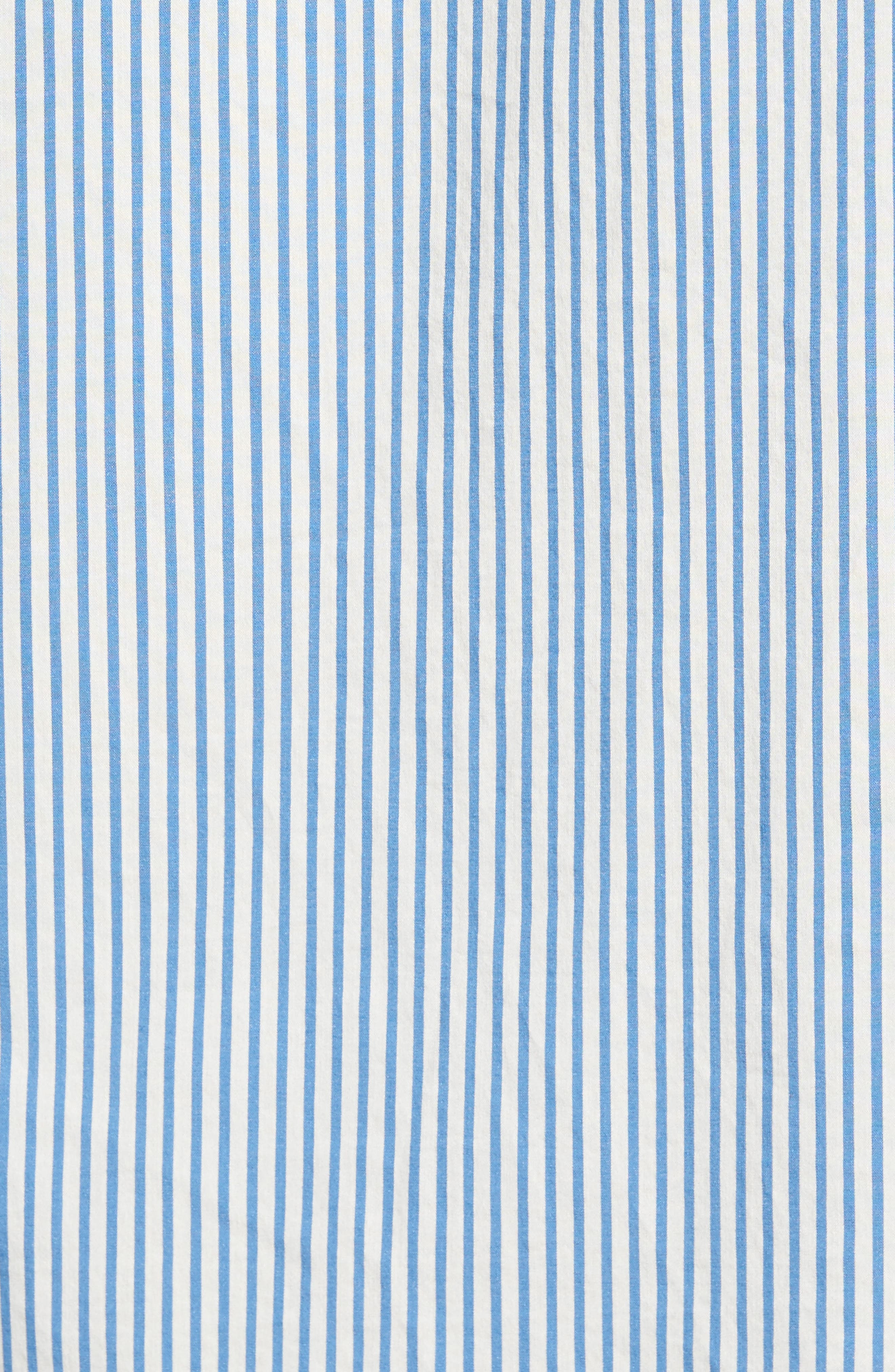 Regular Fit Stripe Sport Shirt,                             Alternate thumbnail 5, color,                             100
