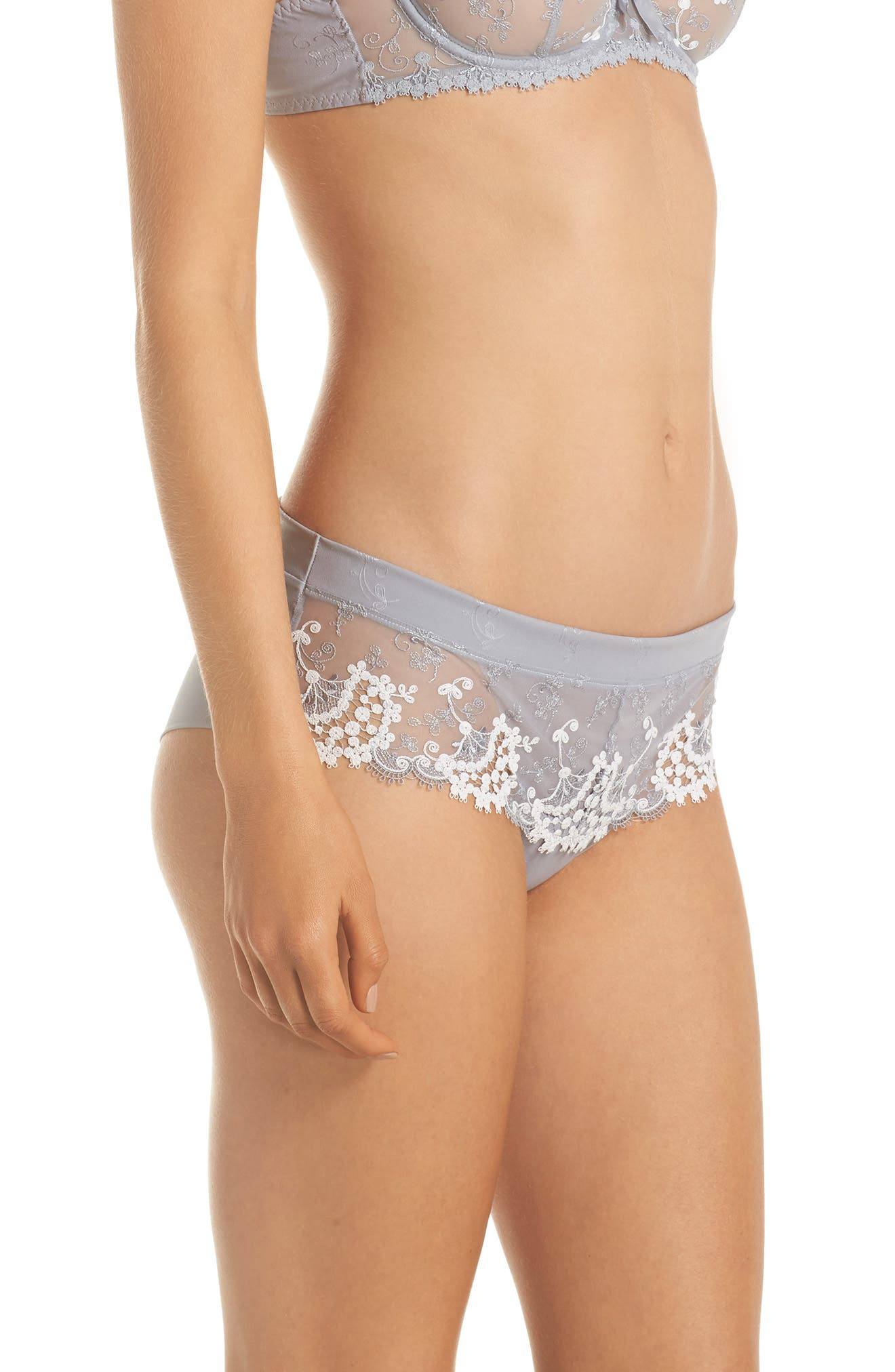 'Wish' Embroidered Boyshorts,                             Alternate thumbnail 9, color,