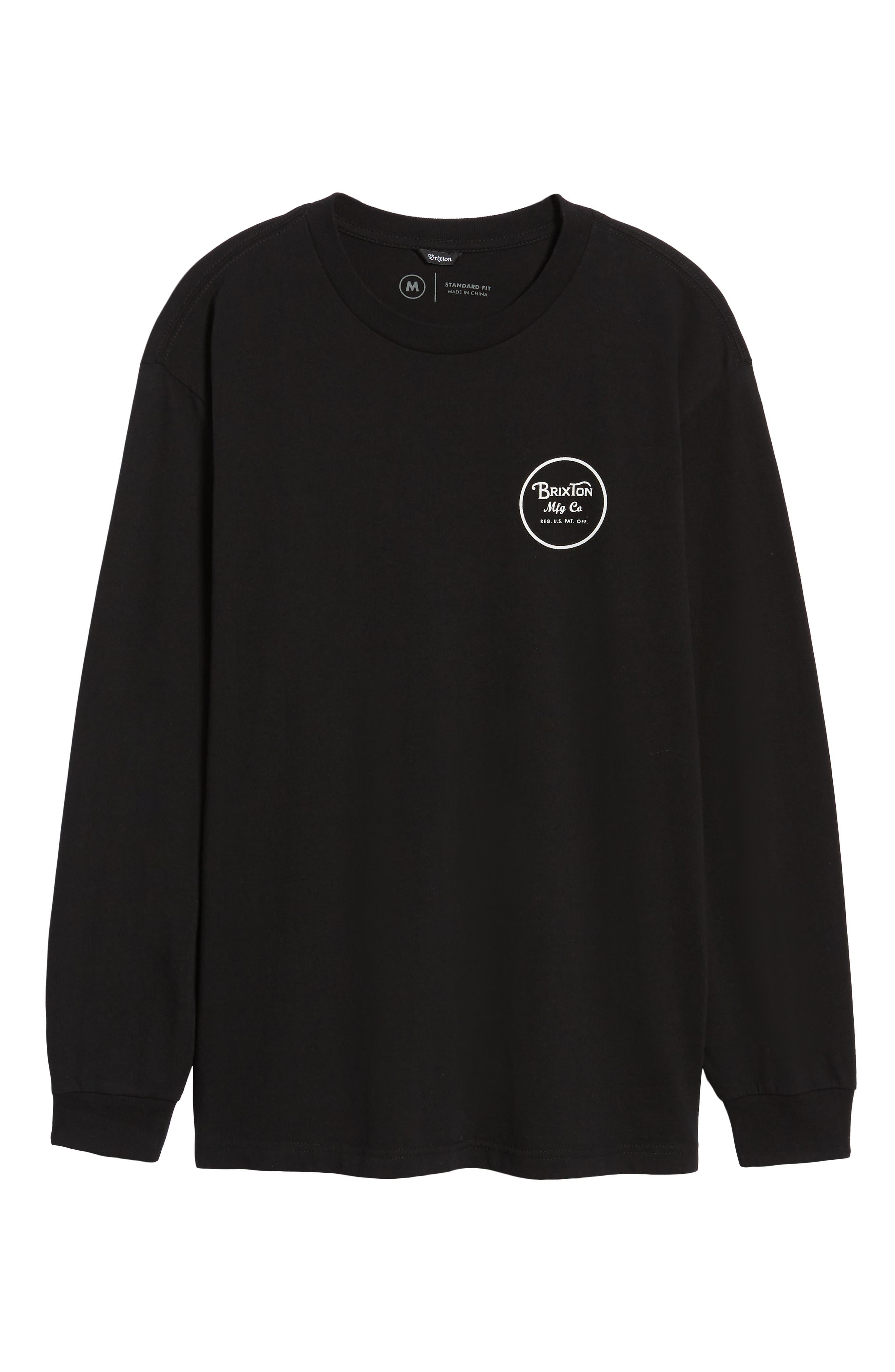 Wheeler II T-Shirt,                             Alternate thumbnail 6, color,                             BLACK
