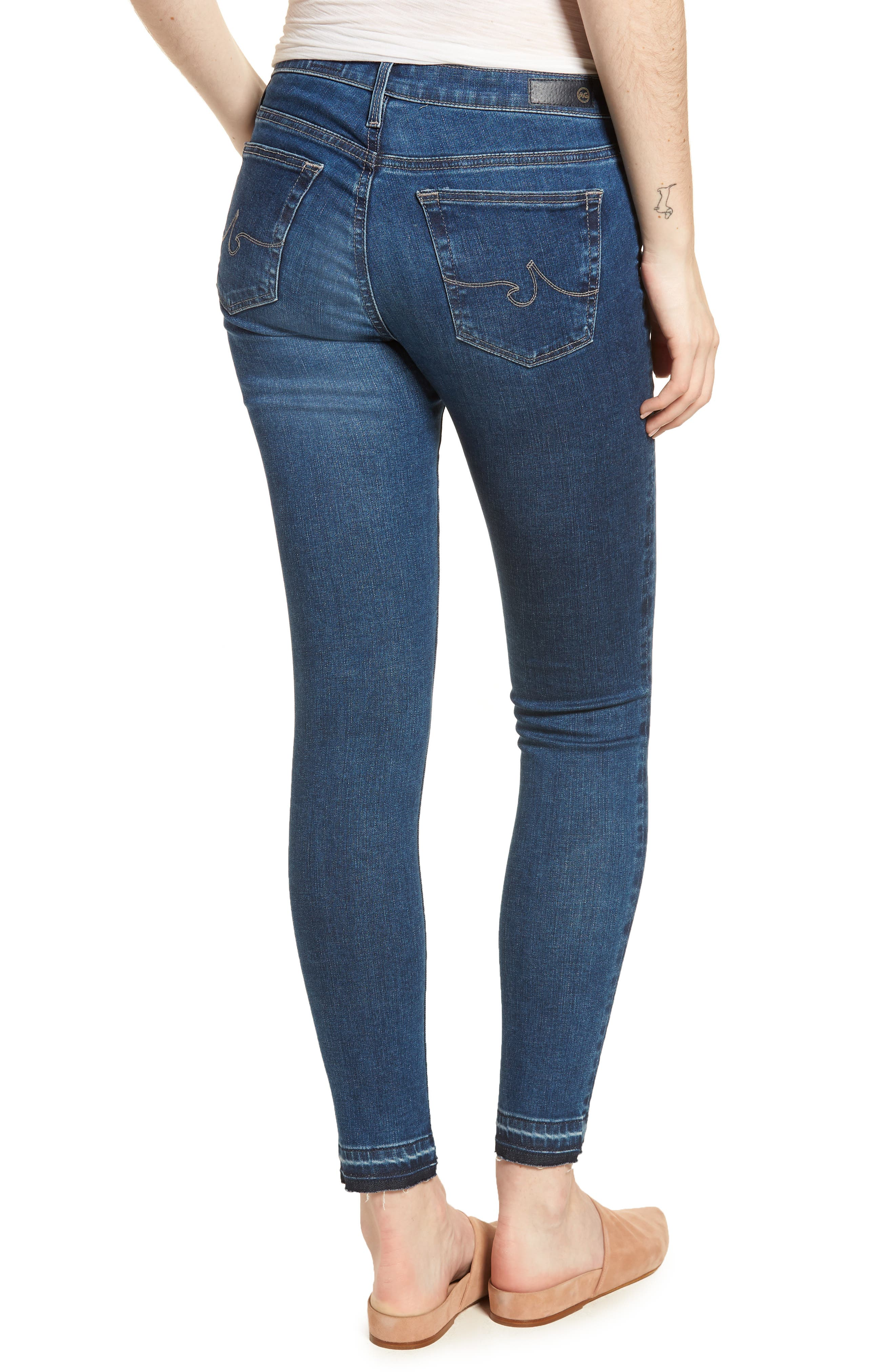 The Legging Ankle Super Skinny Jeans,                             Alternate thumbnail 2, color,                             421