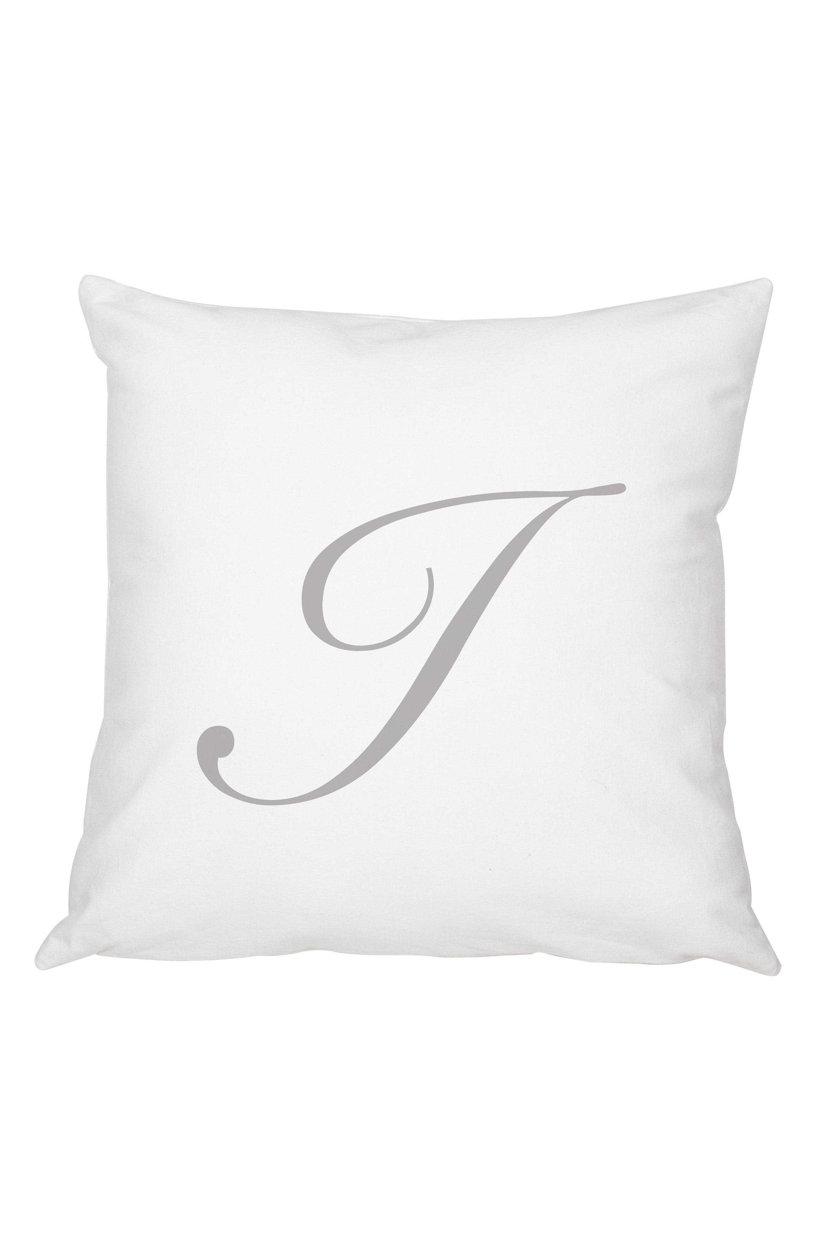 Script Monogram Accent Pillow,                             Main thumbnail 9, color,