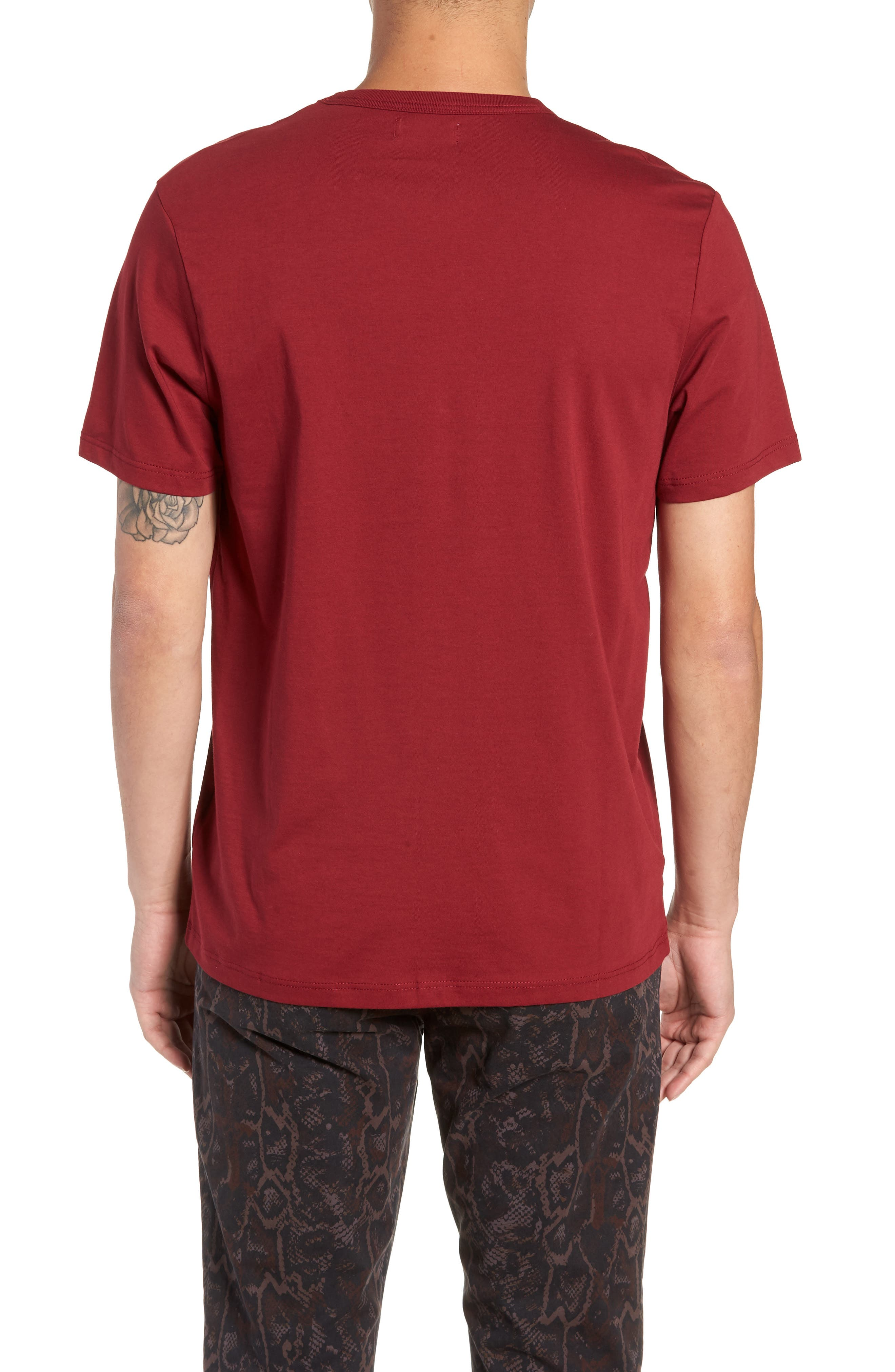 Bound Classic Crew T-Shirt,                             Alternate thumbnail 2, color,                             RED