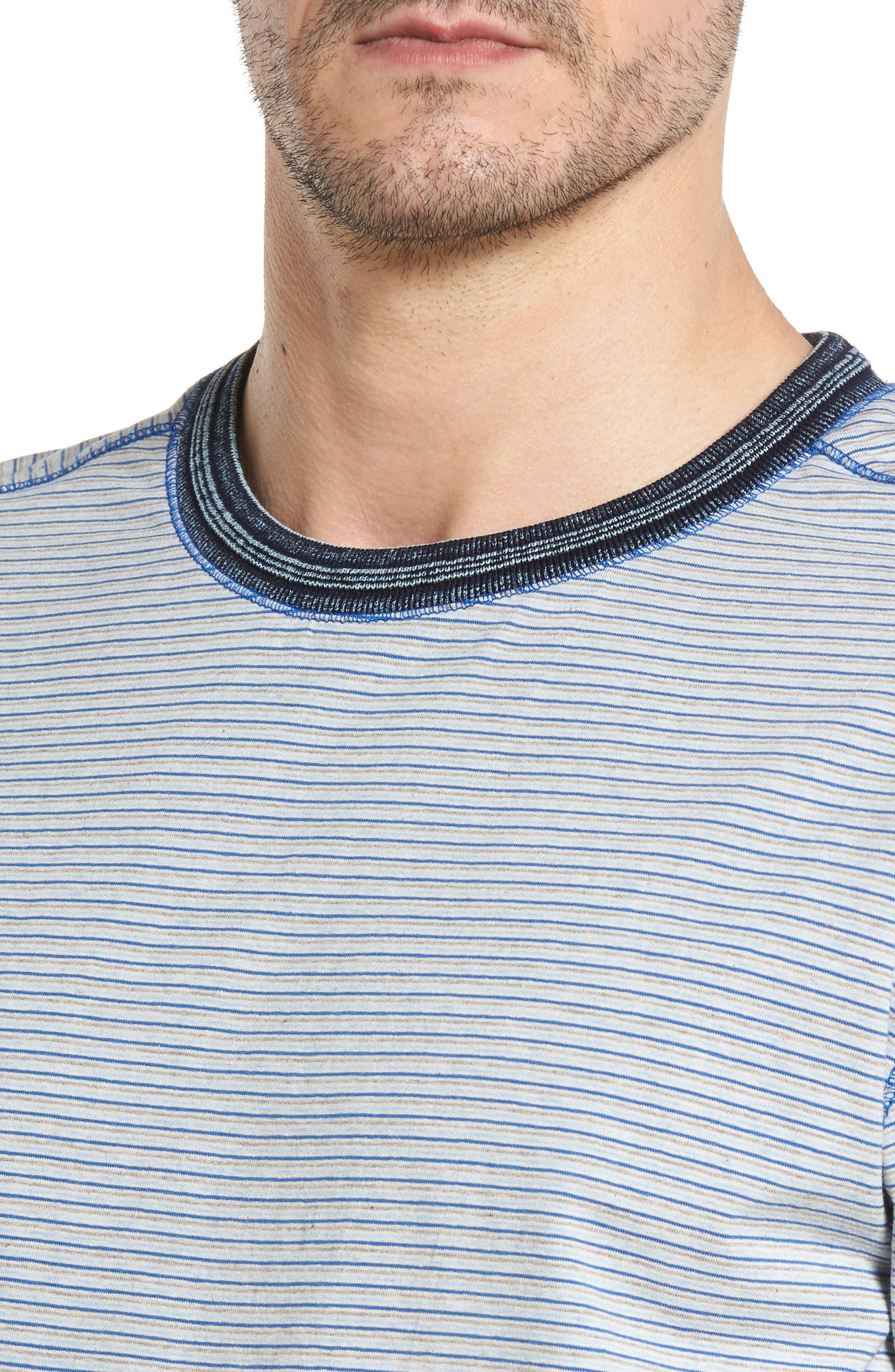Strong Stripe T-Shirt,                             Alternate thumbnail 4, color,                             438