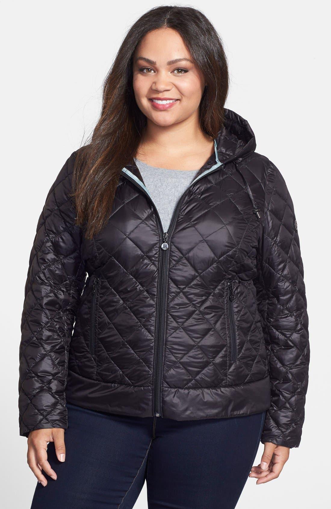 BERNARDO PrimaLoft<sup>®</sup> Hooded Jacket, Main, color, 001