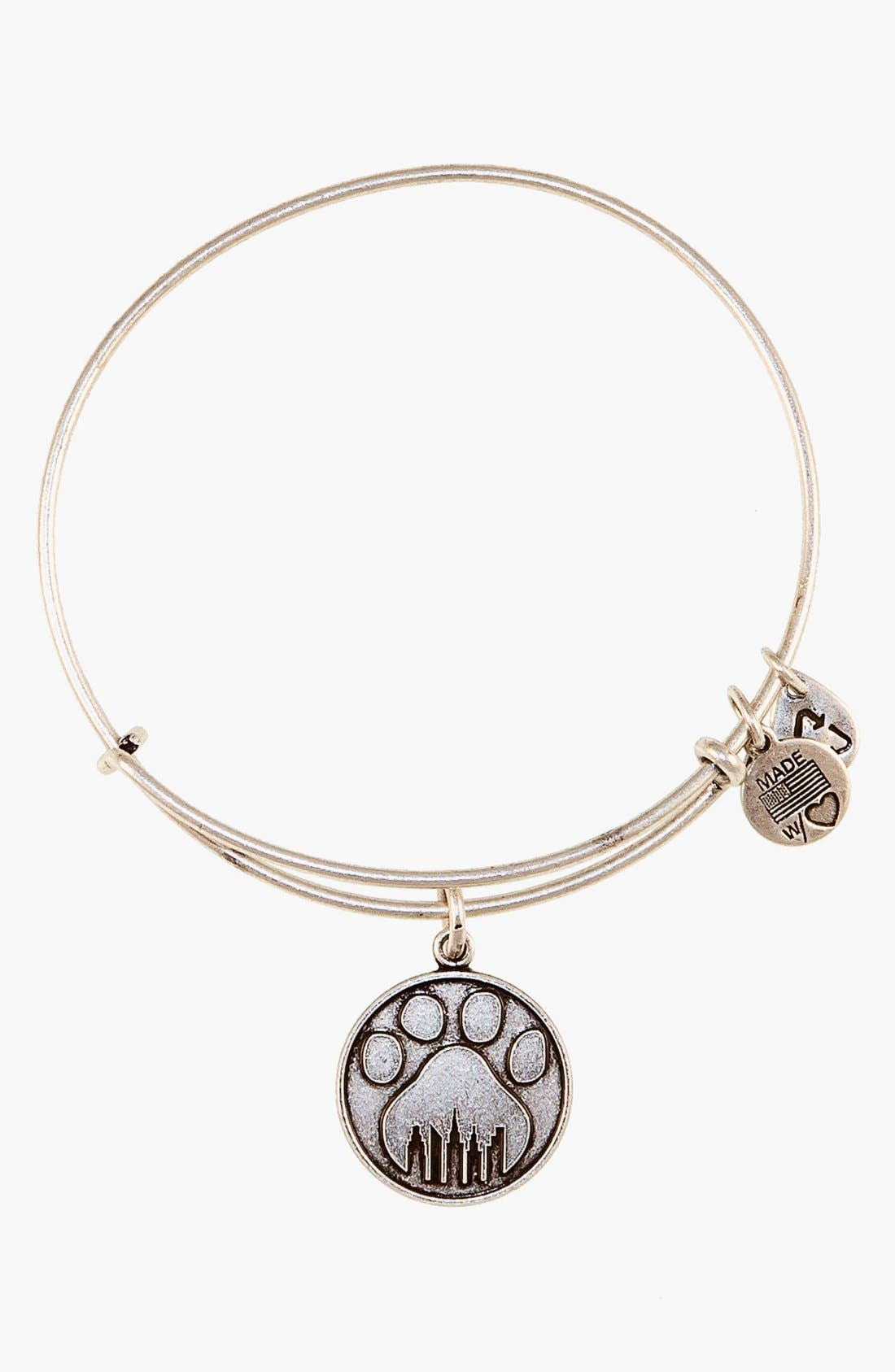 'Paw Print' Expandable Wire Bangle,                             Main thumbnail 1, color,                             040
