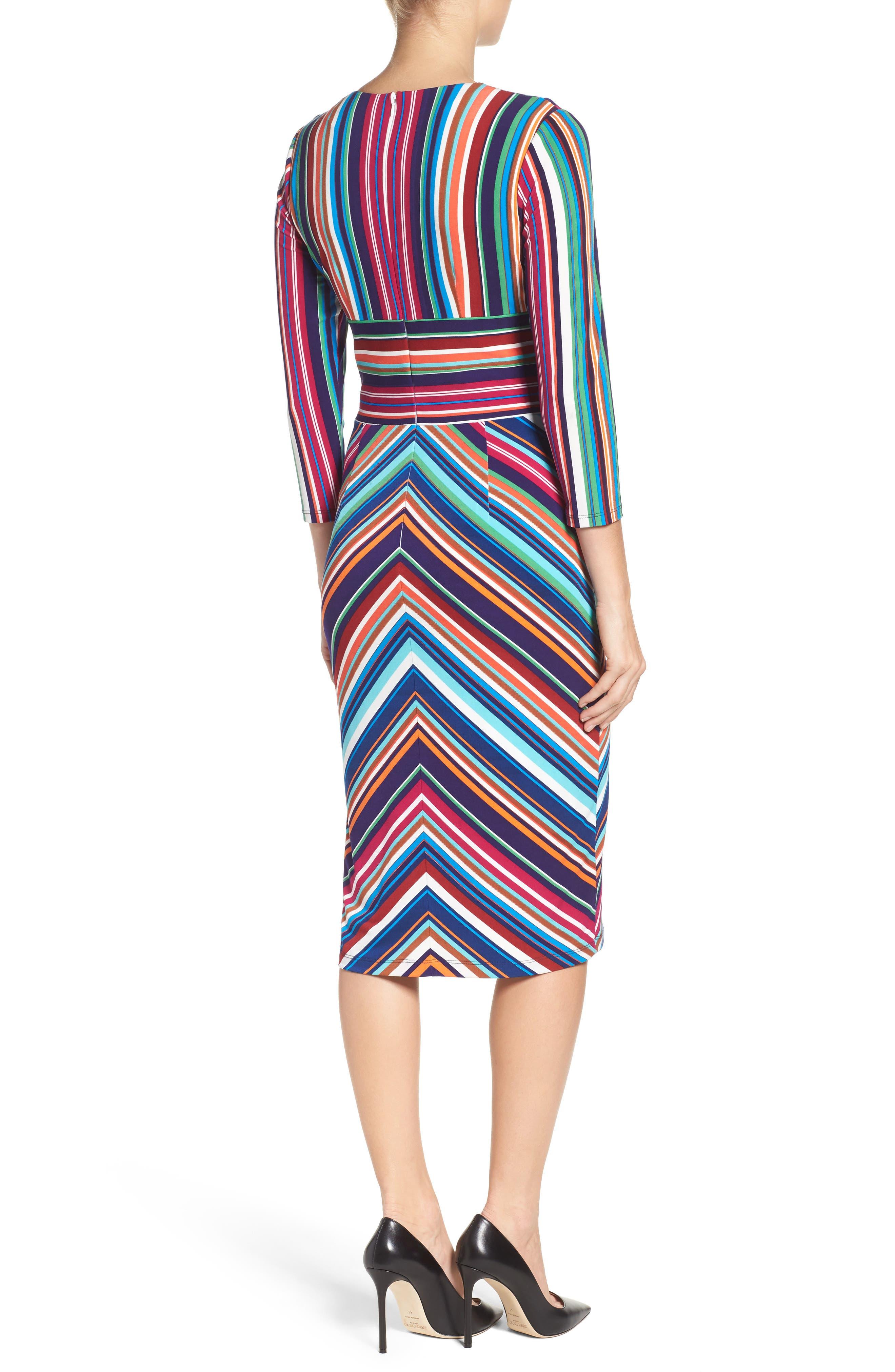 Stripe Midi Dress,                             Alternate thumbnail 2, color,                             415