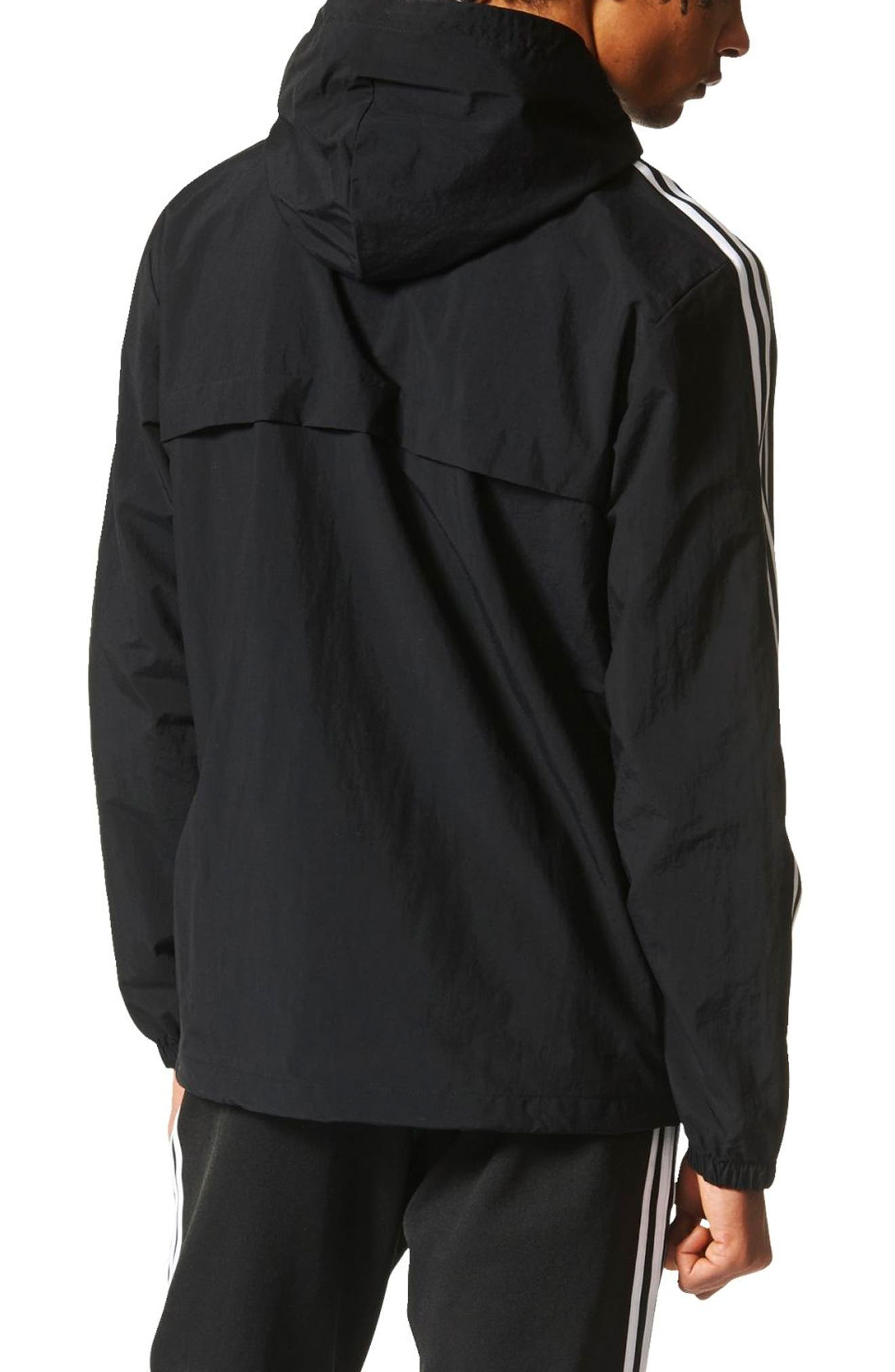 3-Stripe Hooded Windbreaker,                             Alternate thumbnail 4, color,