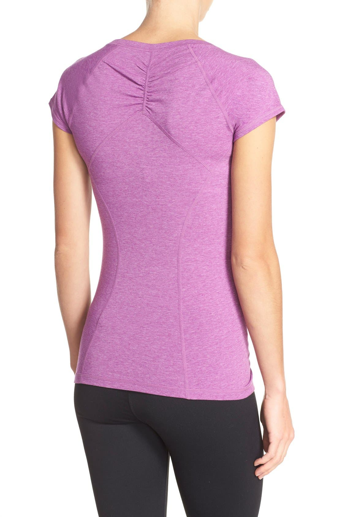 'Z 6' Ruched Tee,                             Alternate thumbnail 69, color,