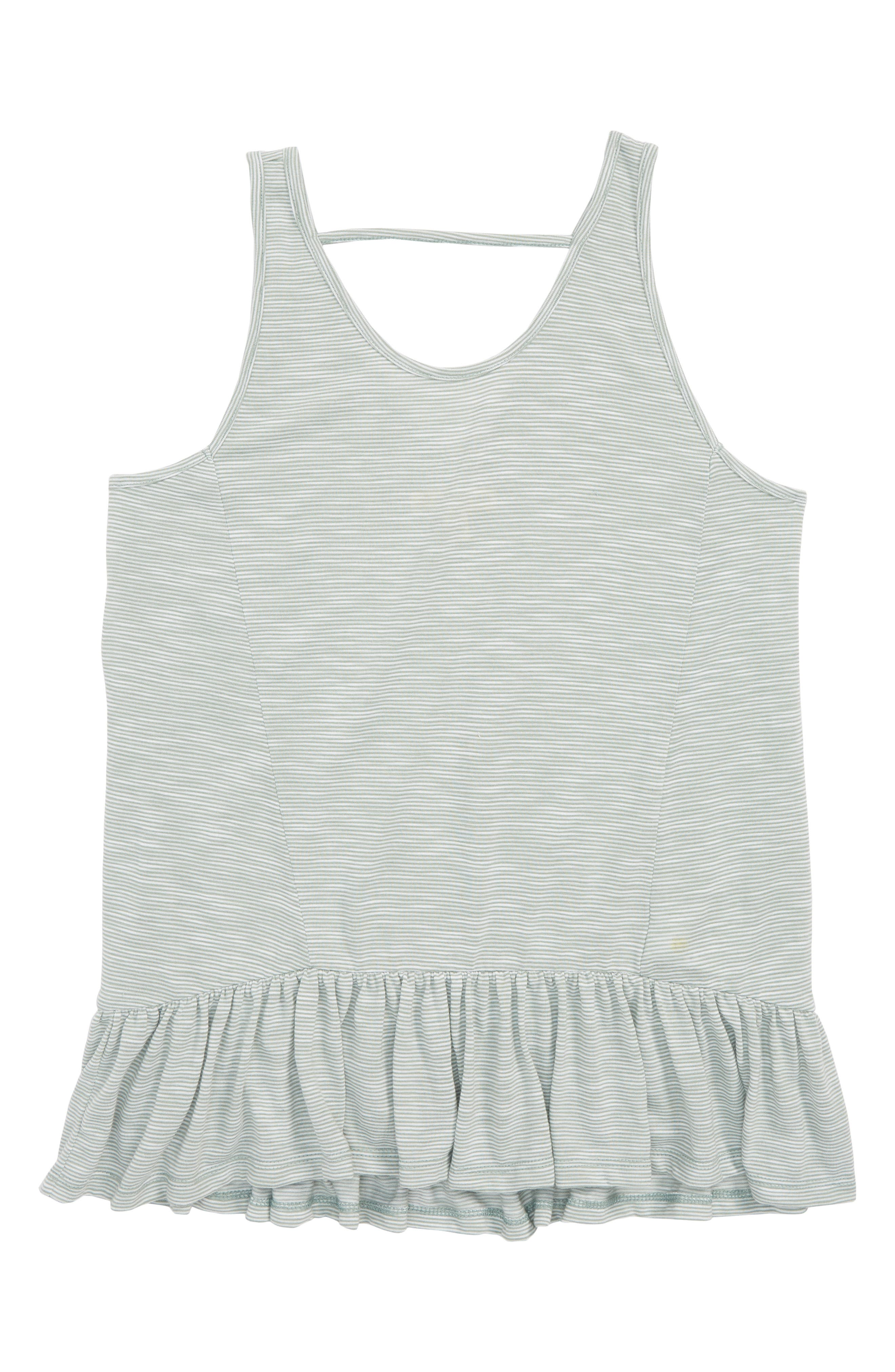 TUCKER + TATE,                             Stripe Peplum Tank,                             Main thumbnail 1, color,                             310