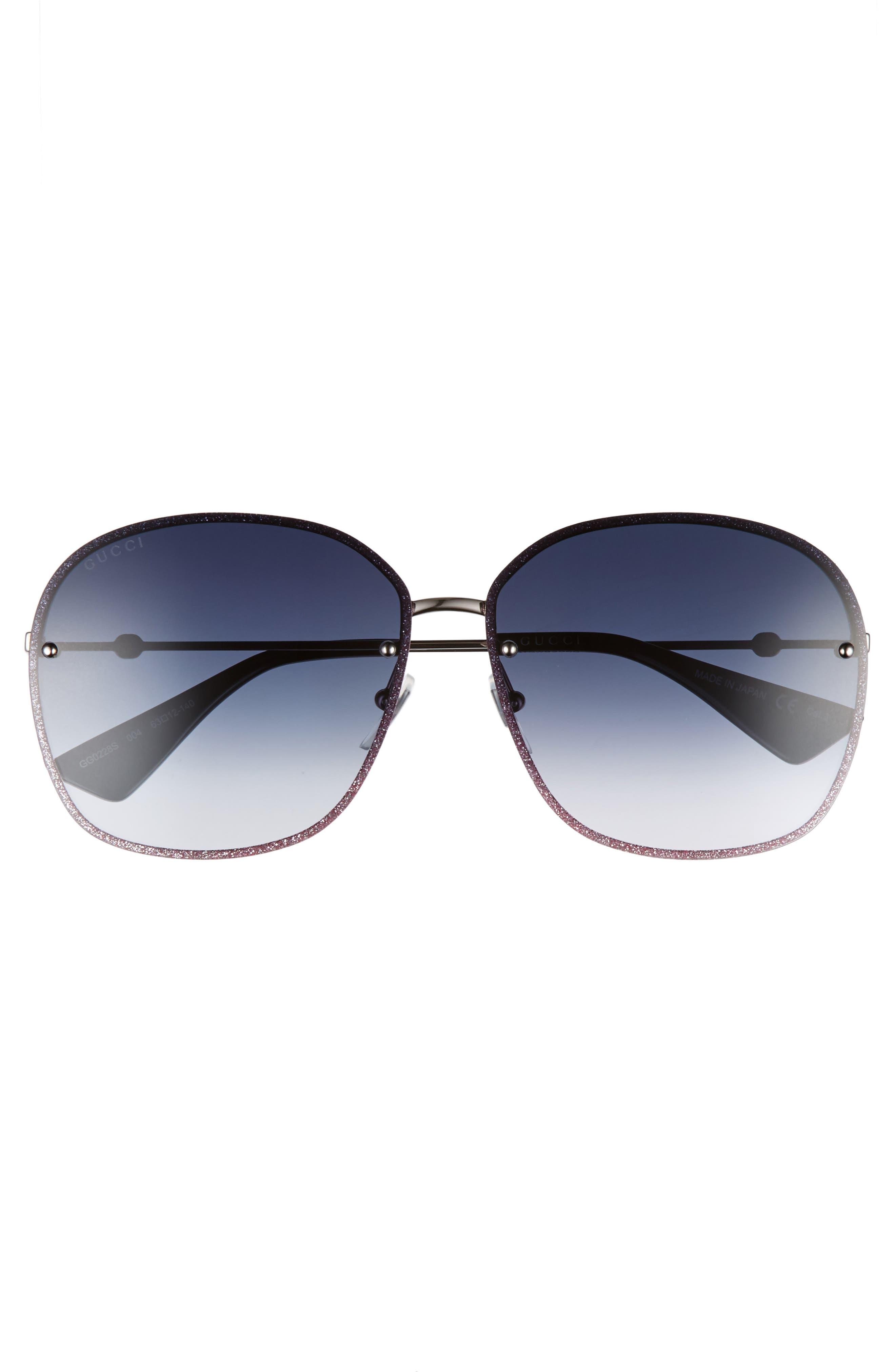 GUCCI,                             63mm Oversize Square Sunglasses,                             Alternate thumbnail 3, color,                             040