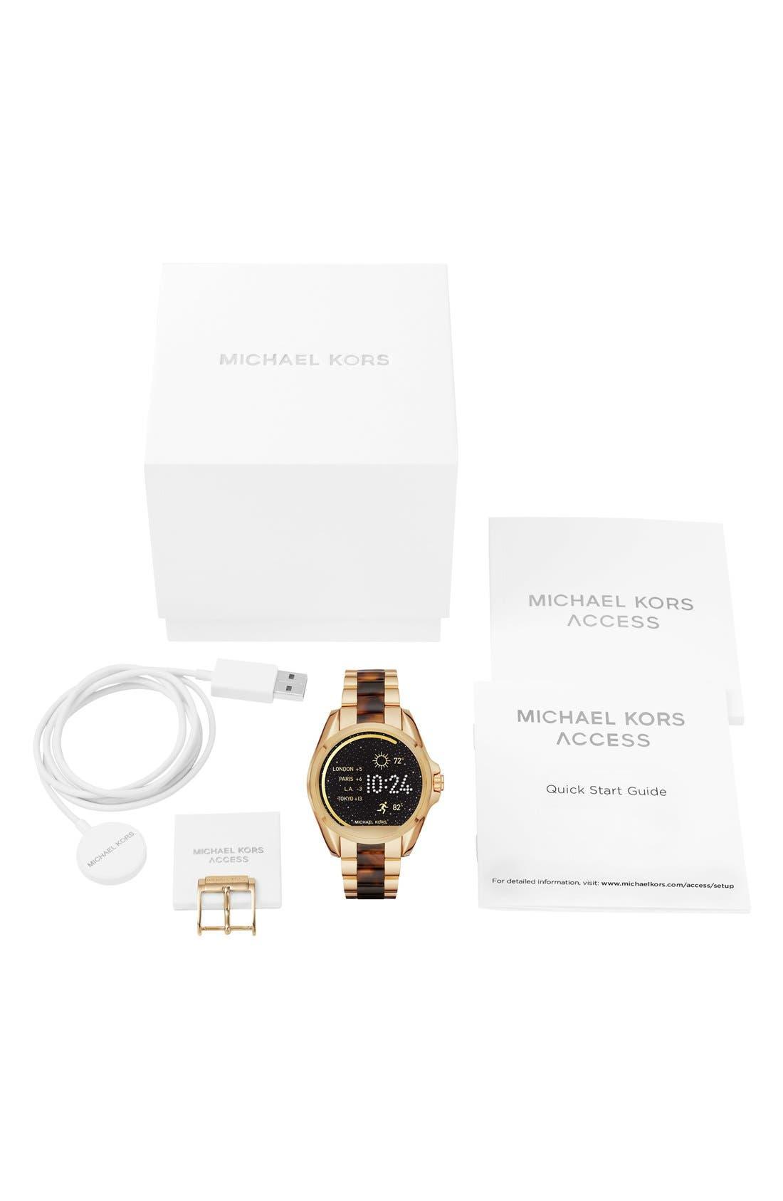 MICHAEL Michael Kors Bradshaw Access Bracelet Smart Watch, 45mm,                             Alternate thumbnail 52, color,