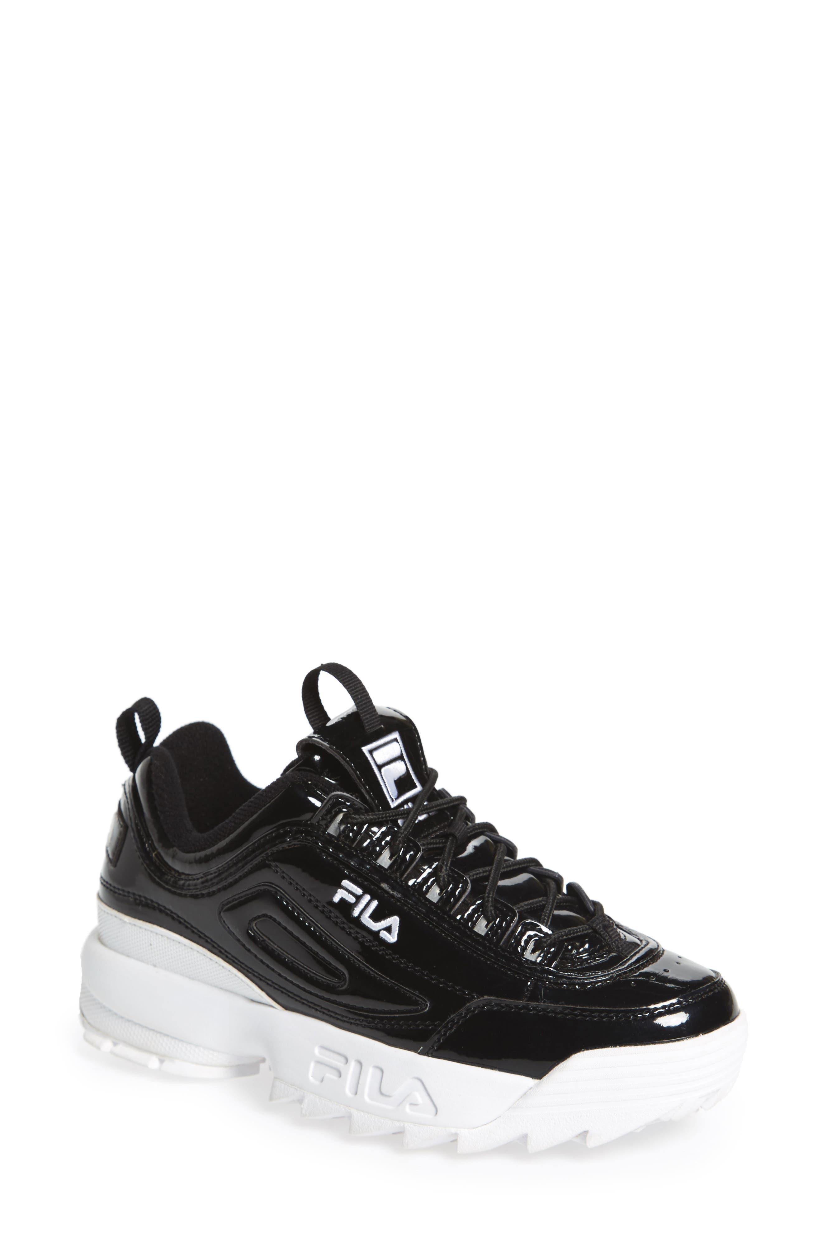 Disruptor II Premium Patent Sneaker,                             Main thumbnail 1, color,                             014