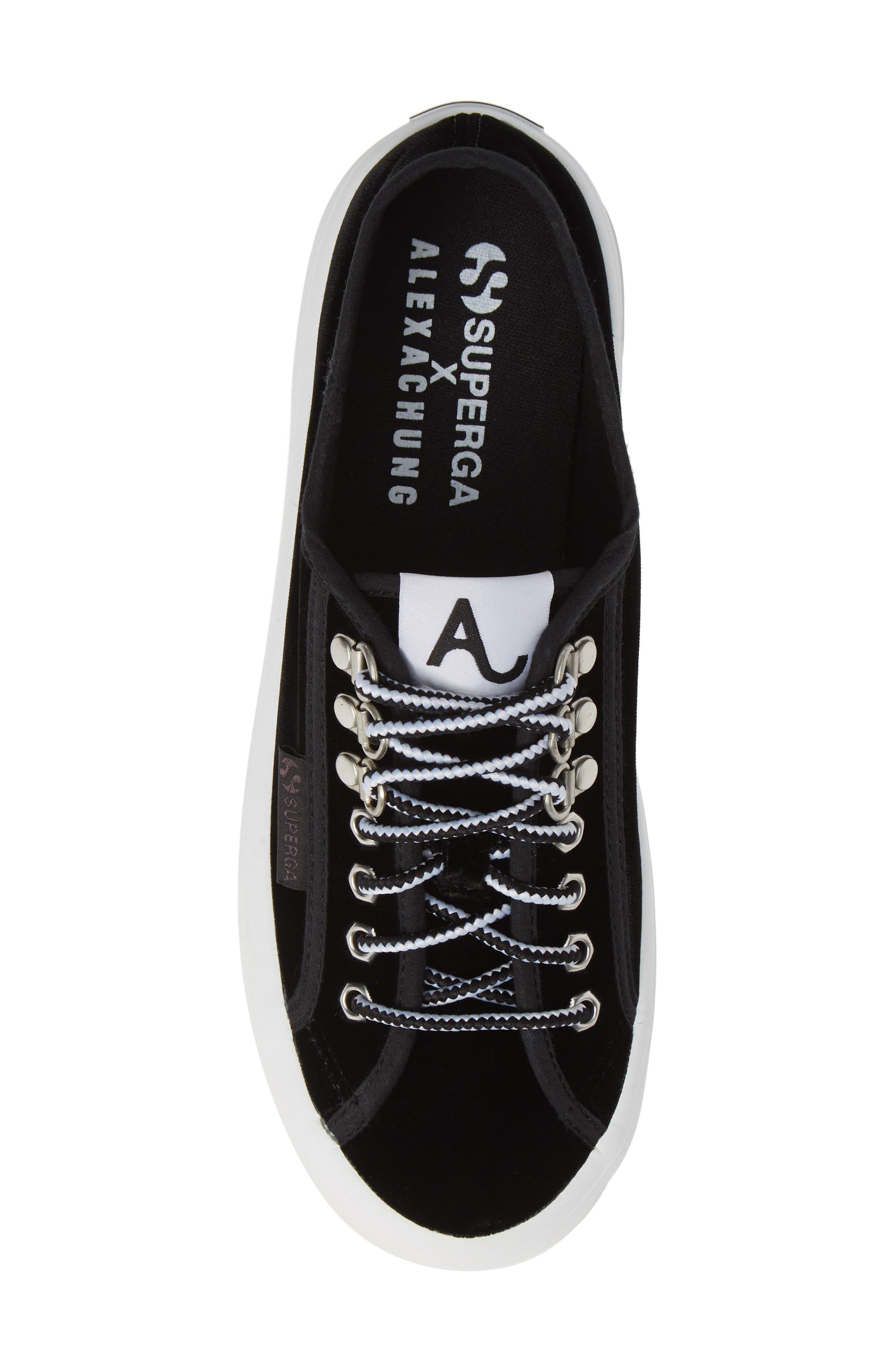 x Alexa Chung 2748 Veltvalpinaw Lugged Platform Sneaker,                             Alternate thumbnail 5, color,                             001