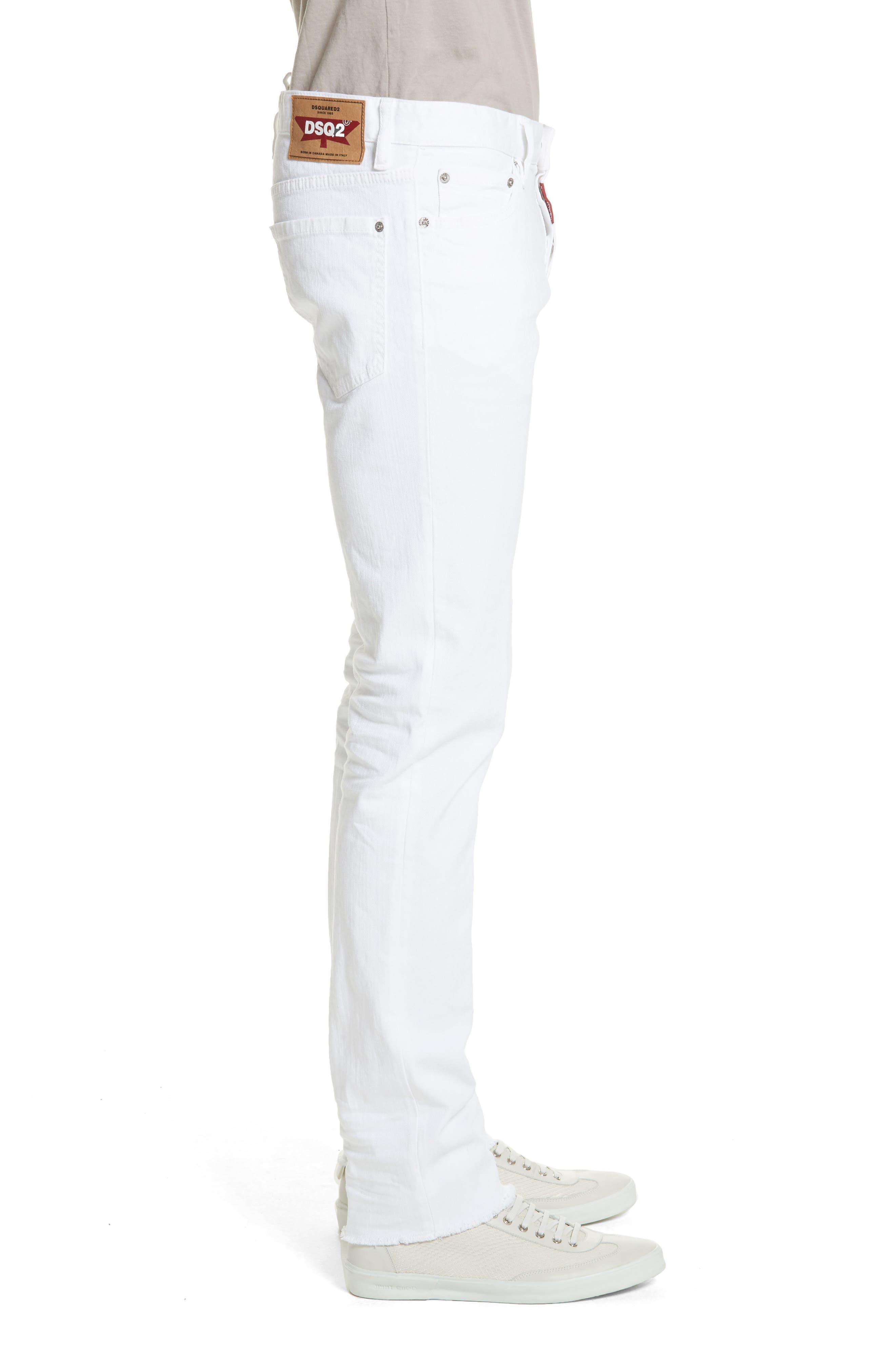 Slim Fit Jeans,                             Alternate thumbnail 3, color,                             WHITE