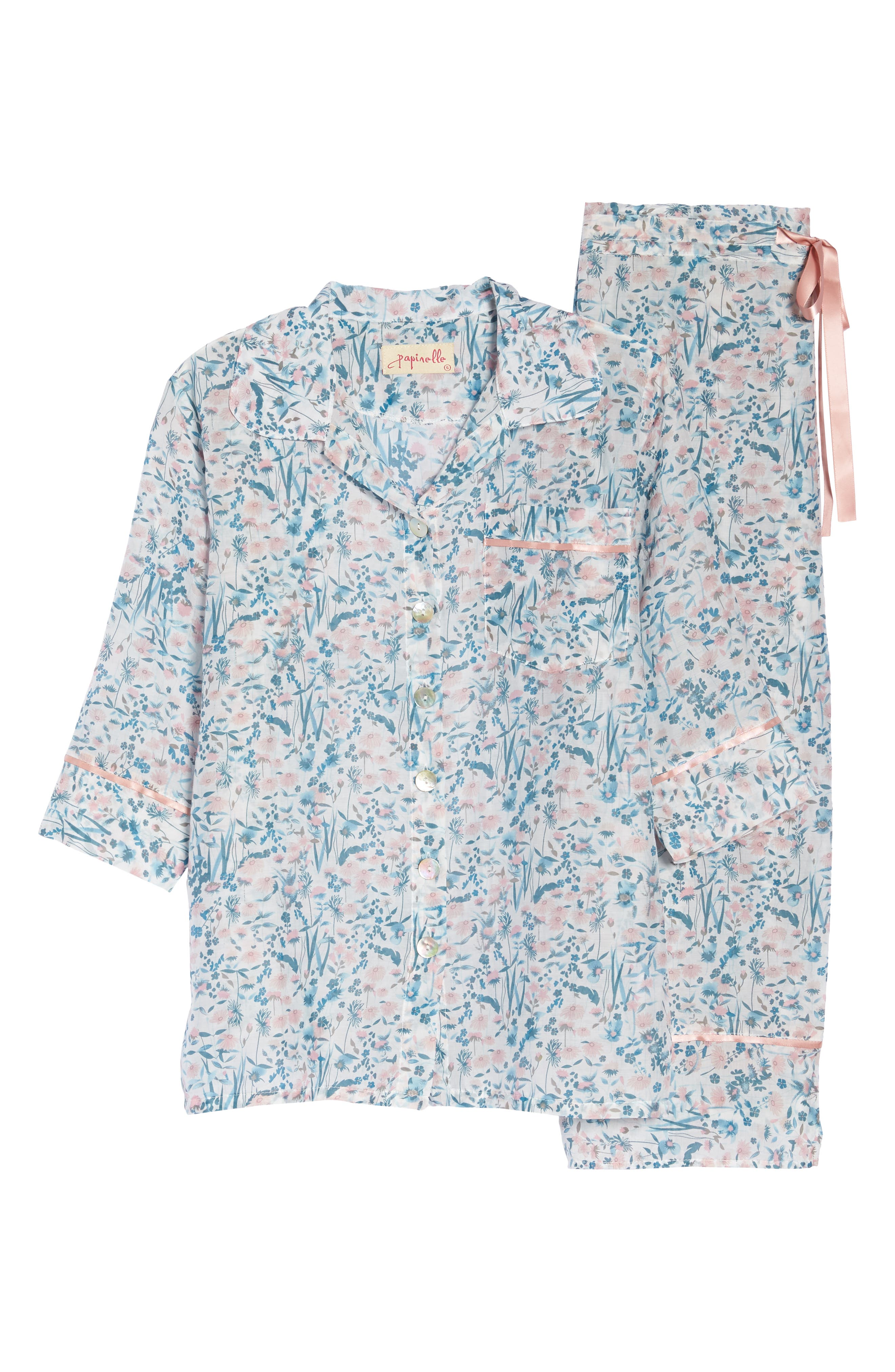 Ellie Crop Pajamas,                             Alternate thumbnail 6, color,                             400