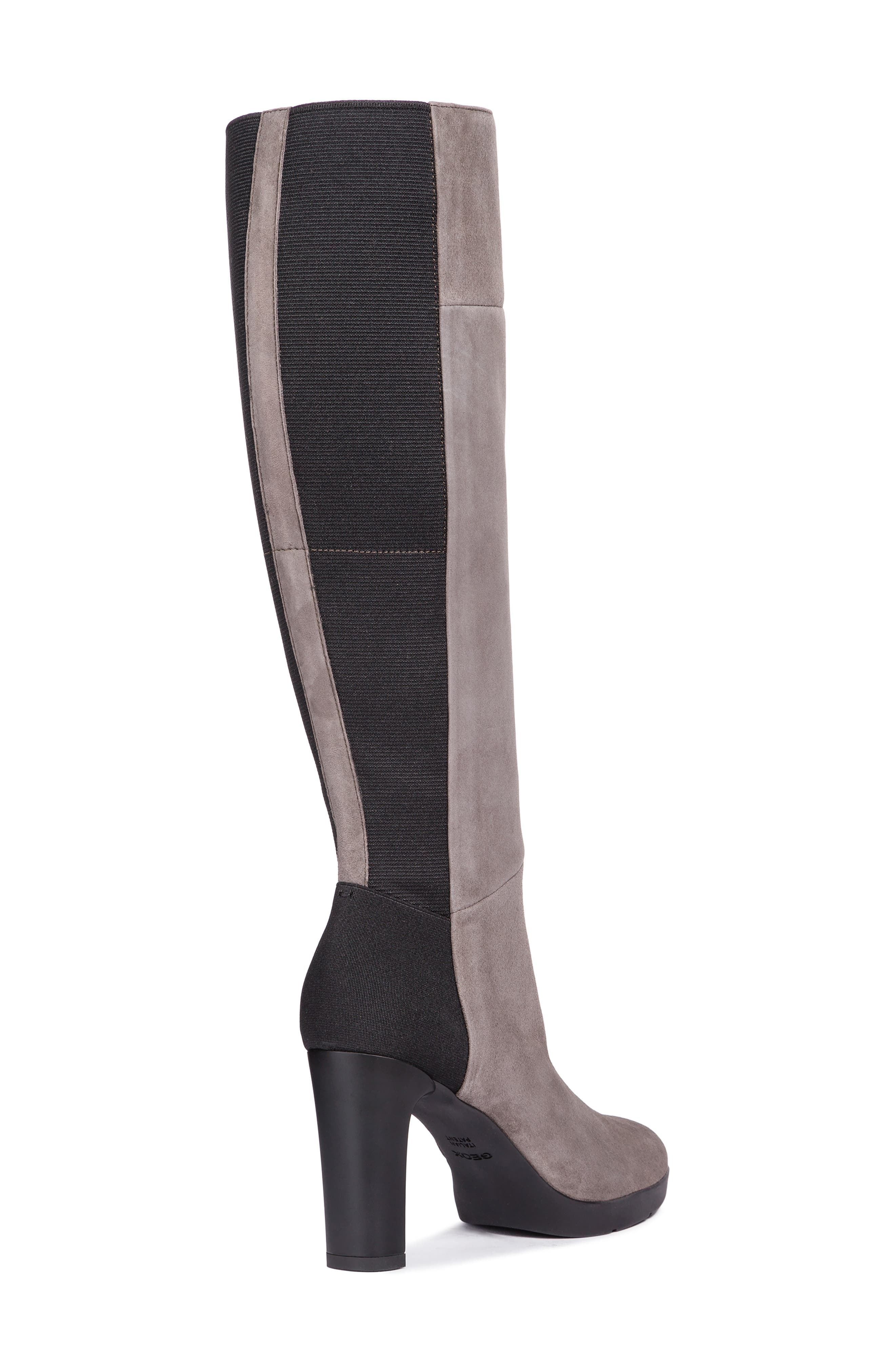GEOX,                             Annya Knee High Boot,                             Alternate thumbnail 7, color,                             CHESTNUT SUEDE