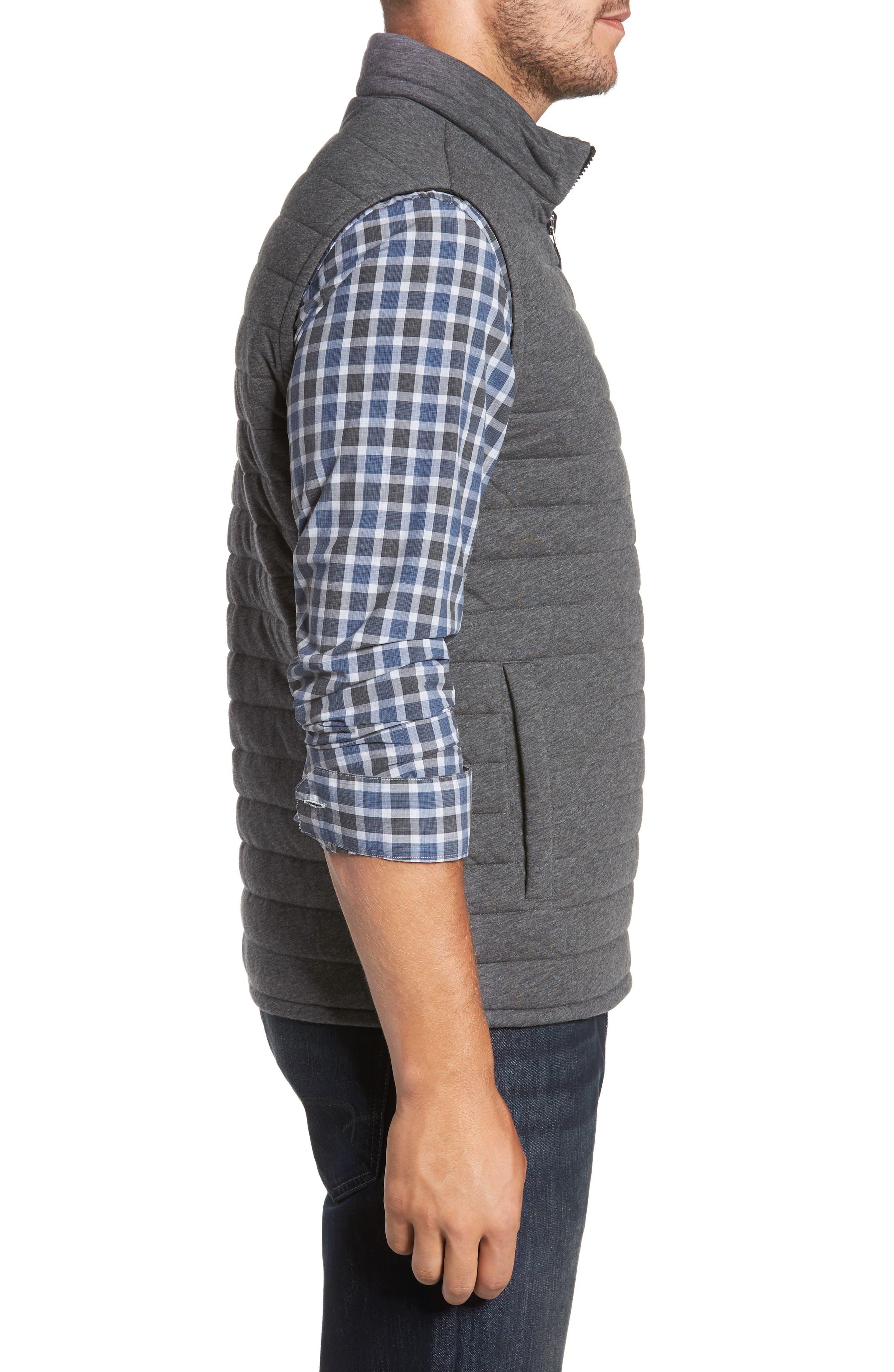 Gallagher Reversible Vest,                             Alternate thumbnail 3, color,                             CHARCOAL