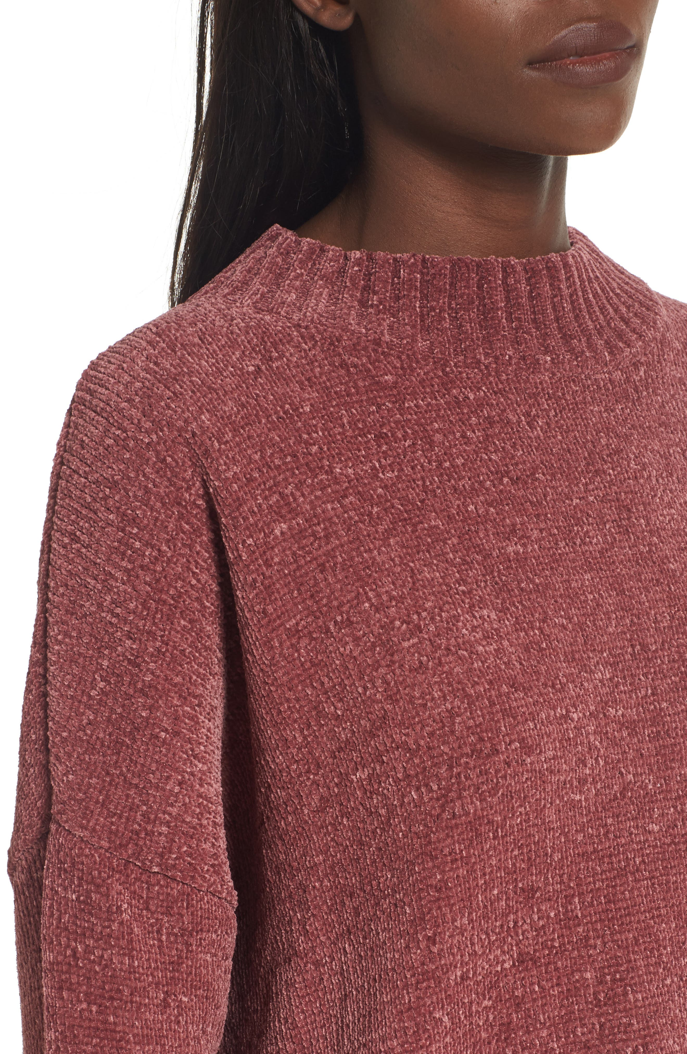 Chenille Funnel Neck Sweater,                             Alternate thumbnail 20, color,