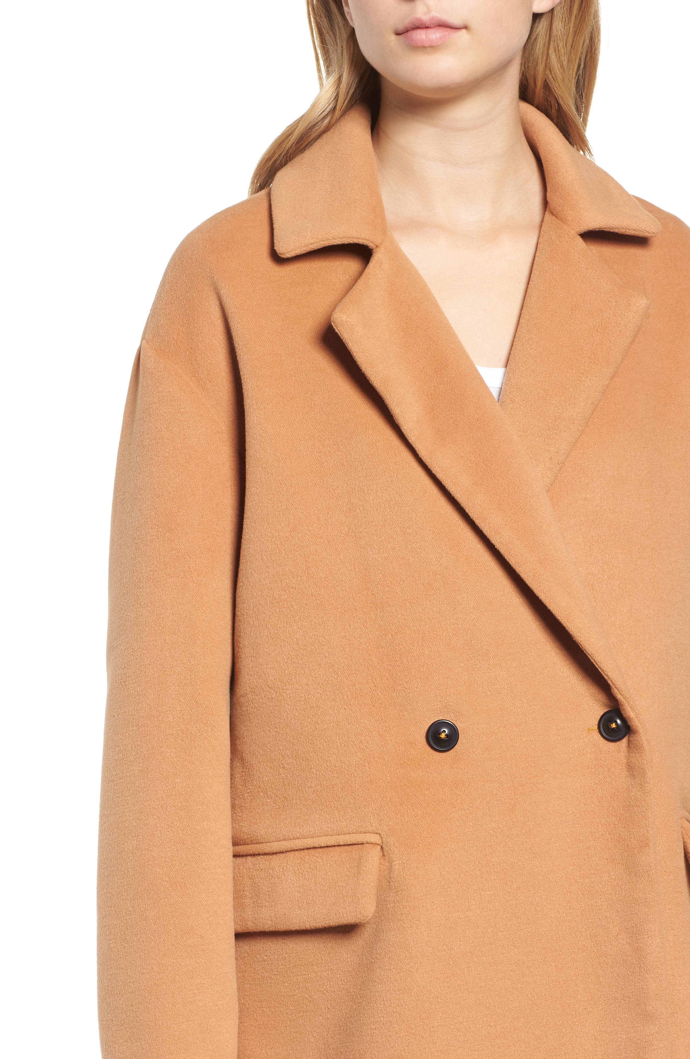 Oversize Double Breasted Coat,                             Alternate thumbnail 4, color,                             230