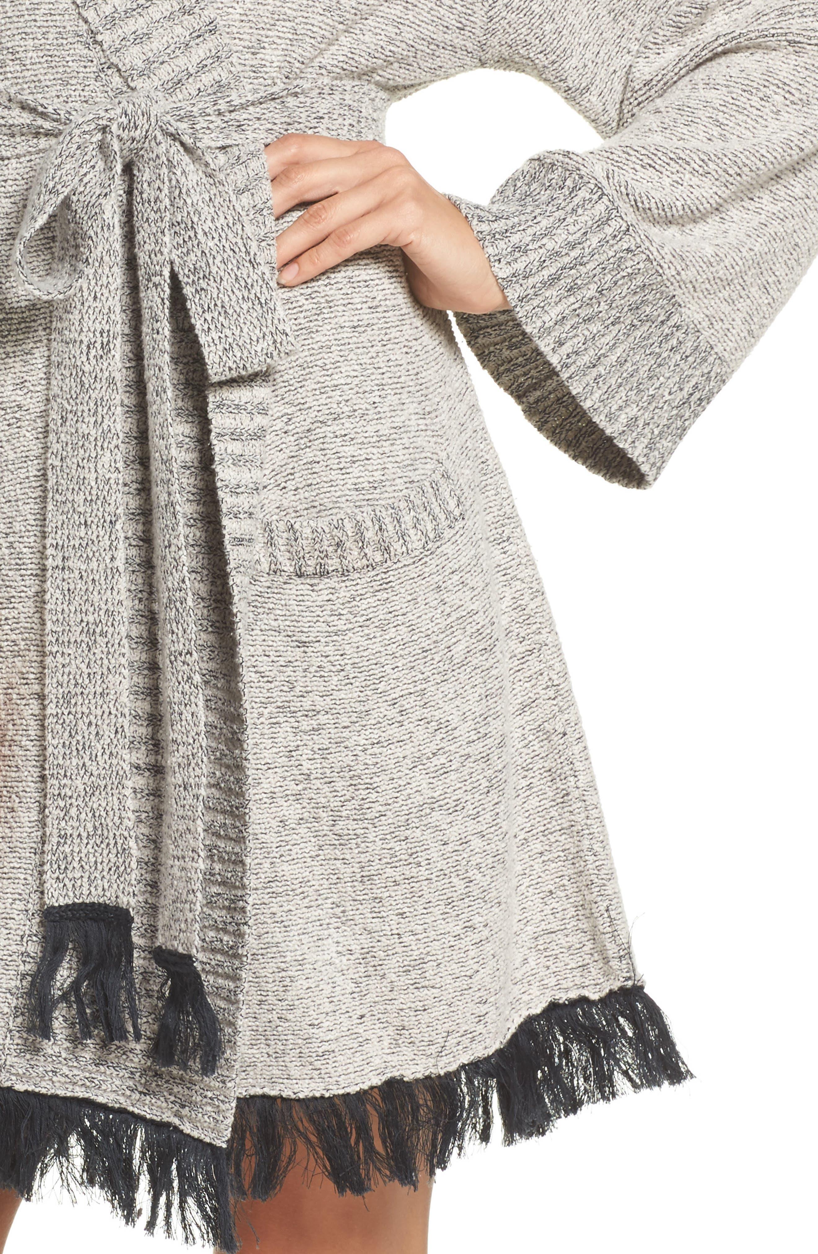 Cozy Bouclé Short Robe,                             Alternate thumbnail 4, color,                             900
