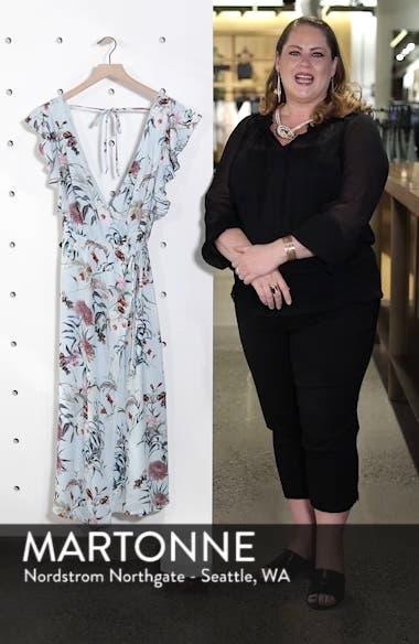 Print Wrap Midi Dress, sales video thumbnail