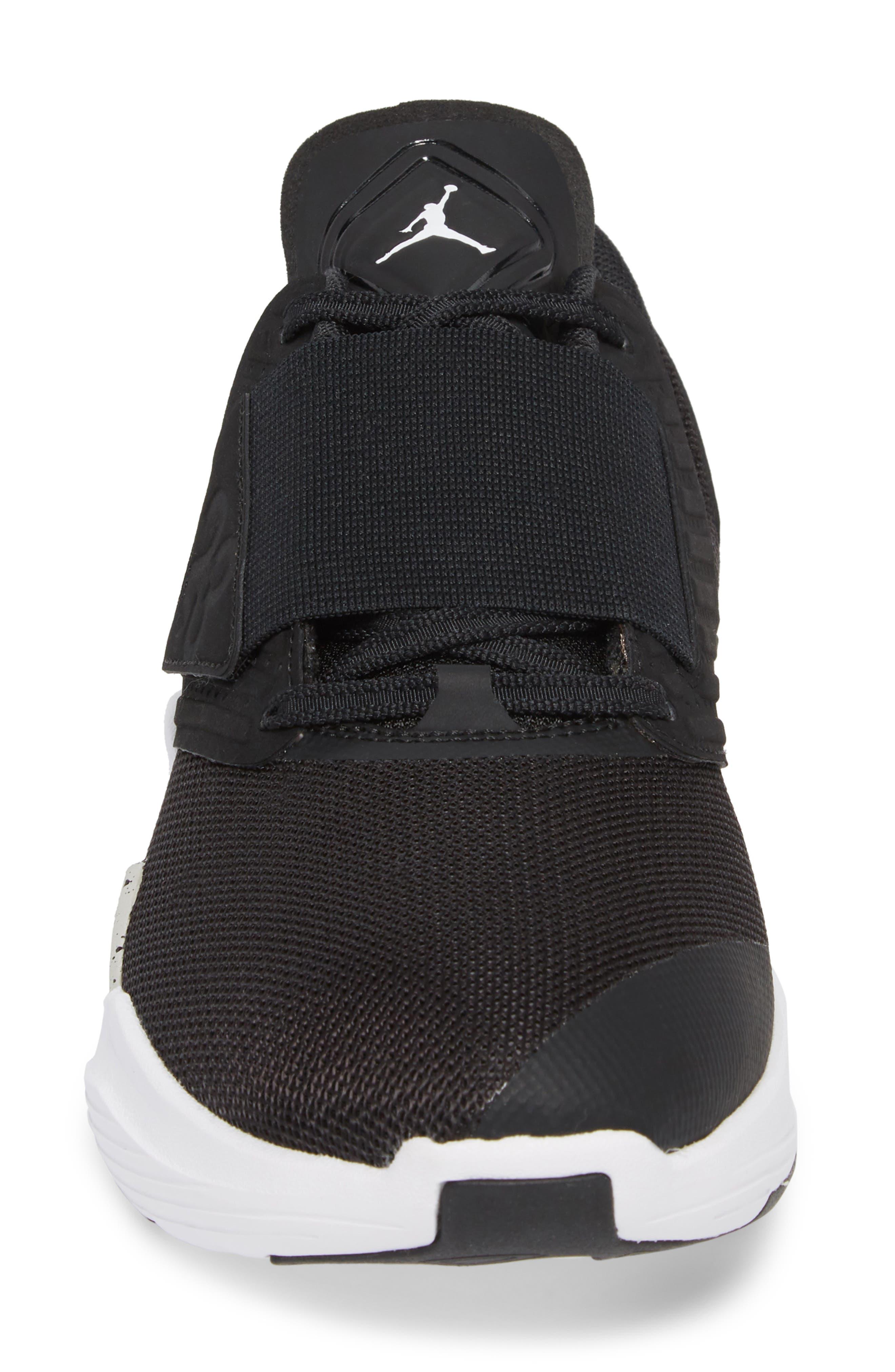 Air Jordan Relentless Training Sneaker,                             Alternate thumbnail 4, color,                             BLACK/ TECH GREY/ WHITE