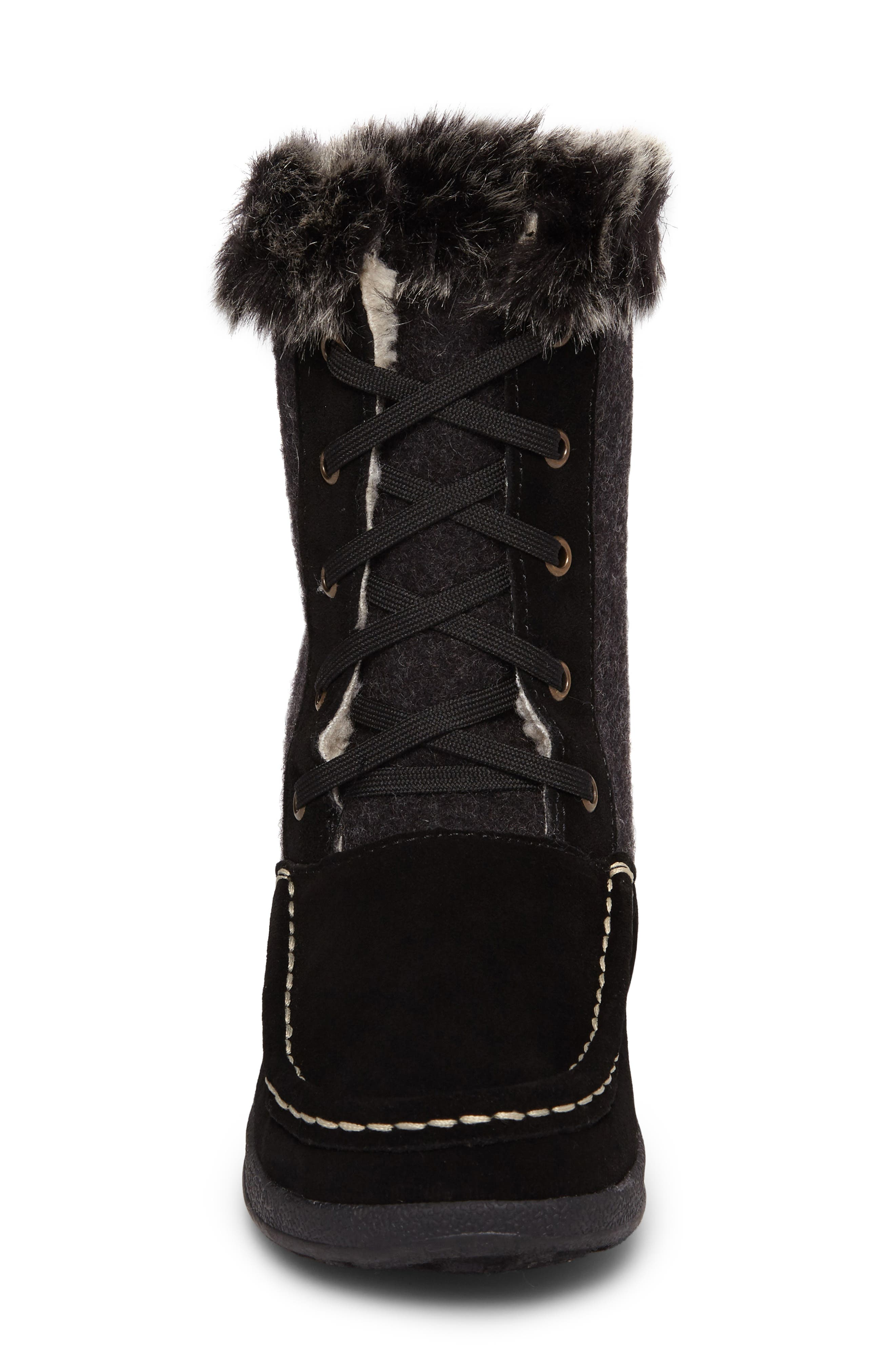 Doe Creek II Faux Fur Trim Boot,                             Alternate thumbnail 10, color,