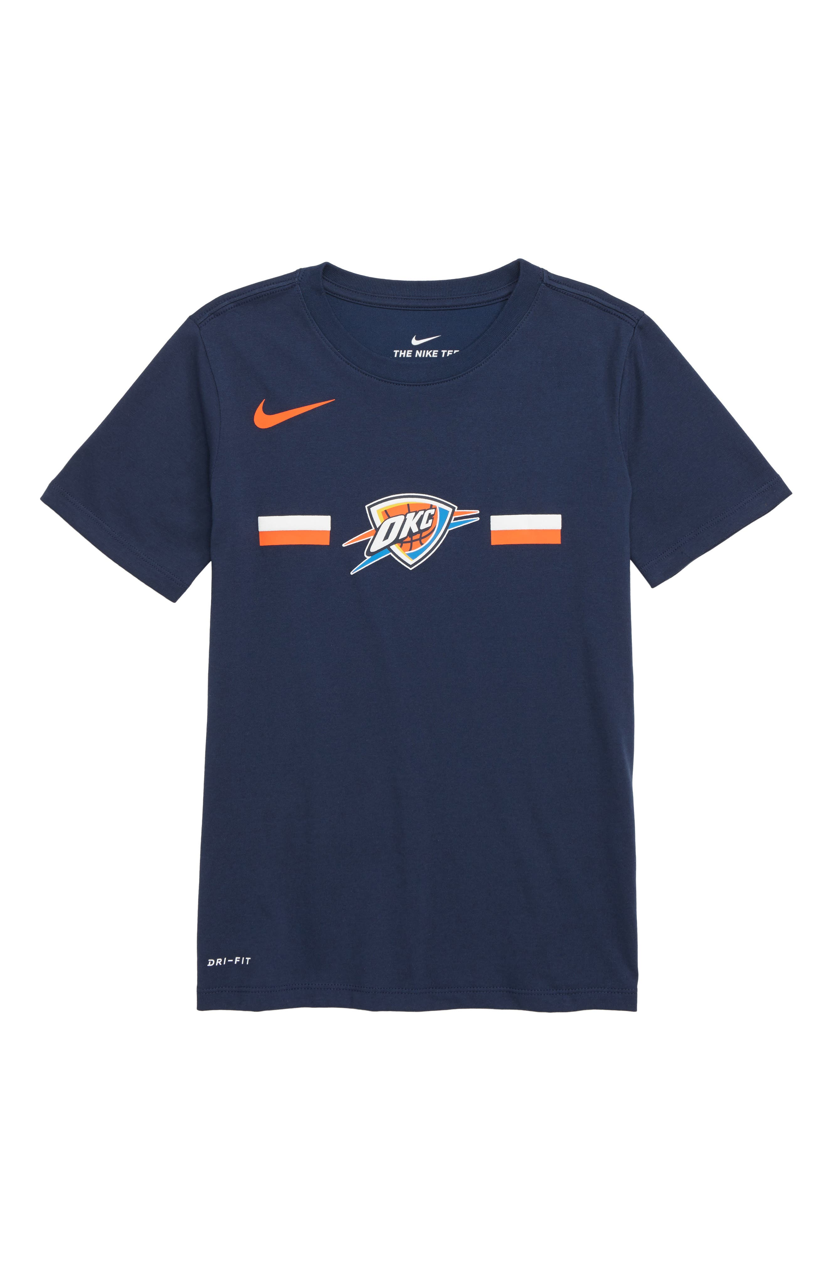 Oklahoma City Thunder Dri-FIT T-Shirt, Main, color, COLLEGE NAVY