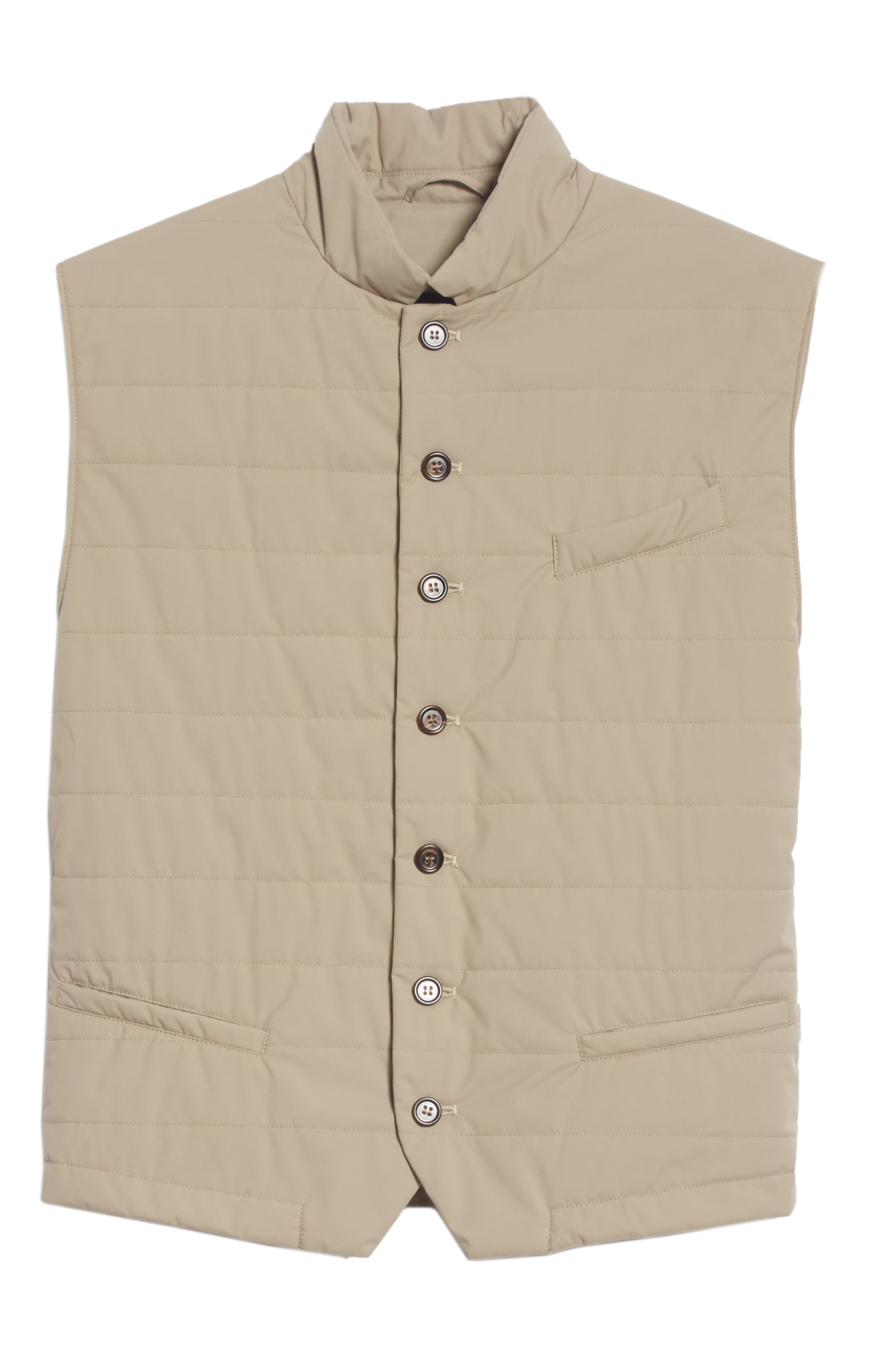 Quilted Vest,                             Alternate thumbnail 6, color,                             TAUPE