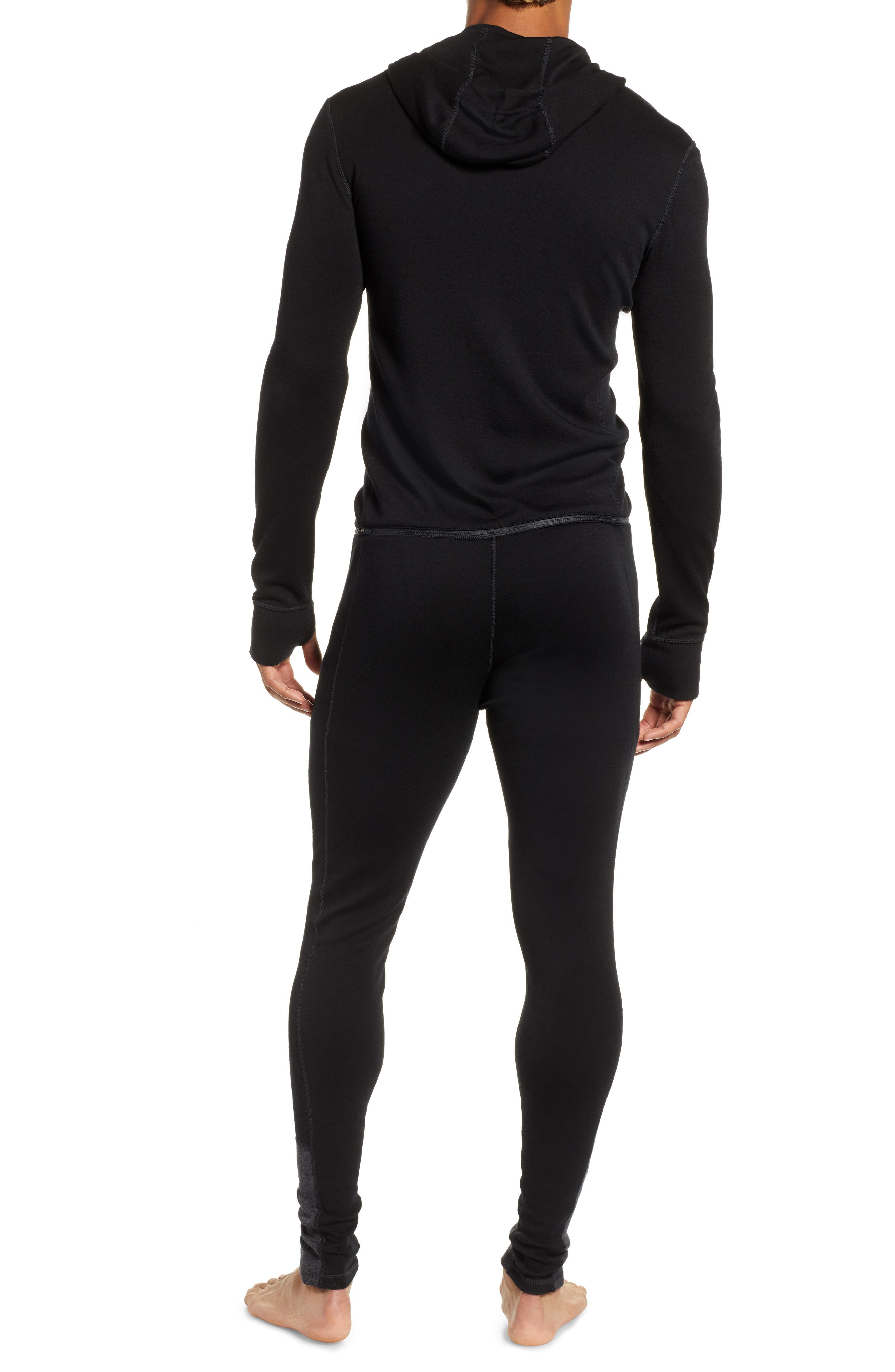 SMARTWOOL,                             Merino 250 Hooded One-Piece Base Layer,                             Alternate thumbnail 2, color,                             CHARCOAL/ BLACK