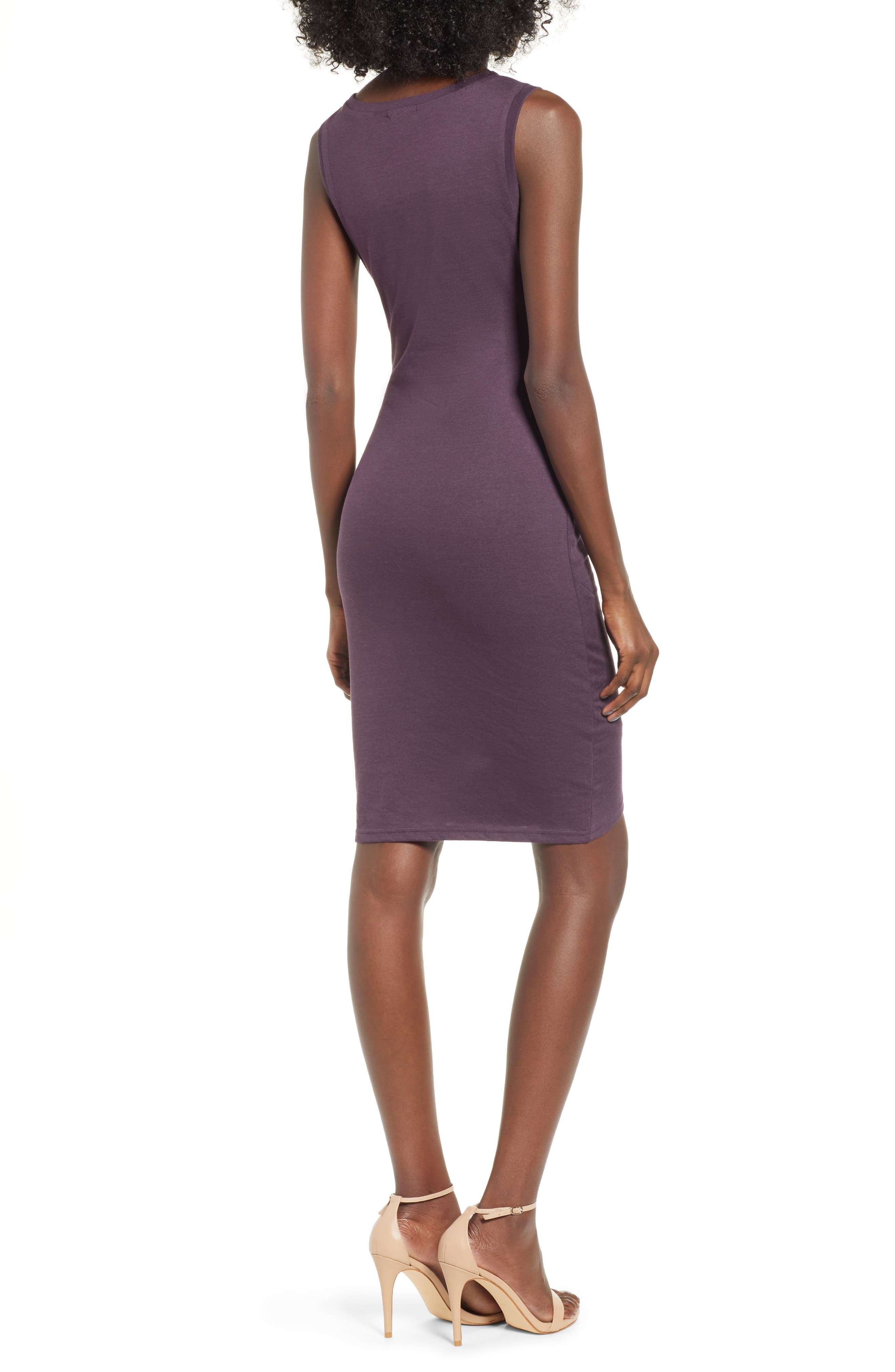 Ruched Body-Con Tank Dress,                             Alternate thumbnail 2, color,                             503