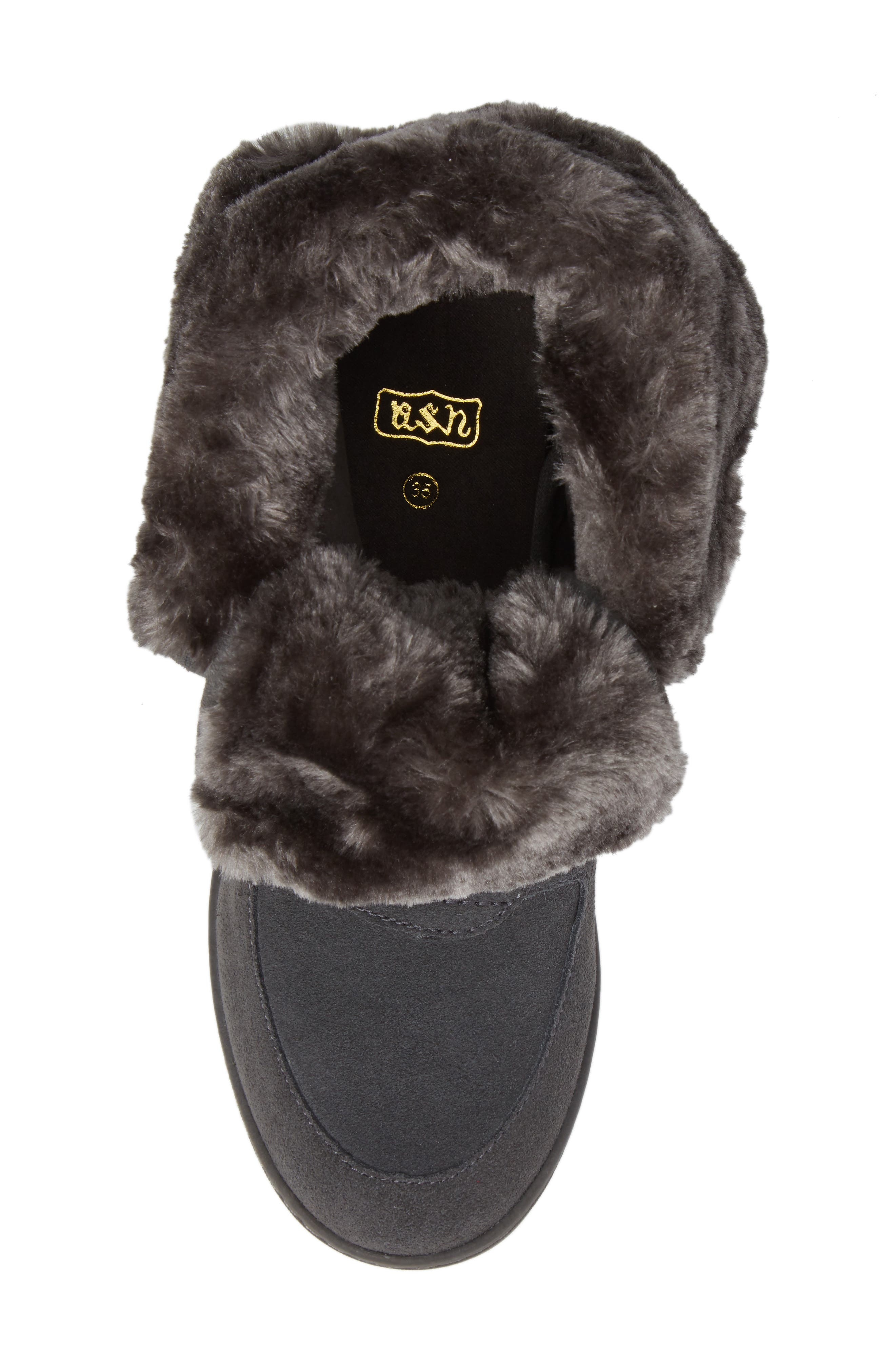 Boogie Beaver Faux Fur Cuffed Bootie,                             Alternate thumbnail 5, color,                             052