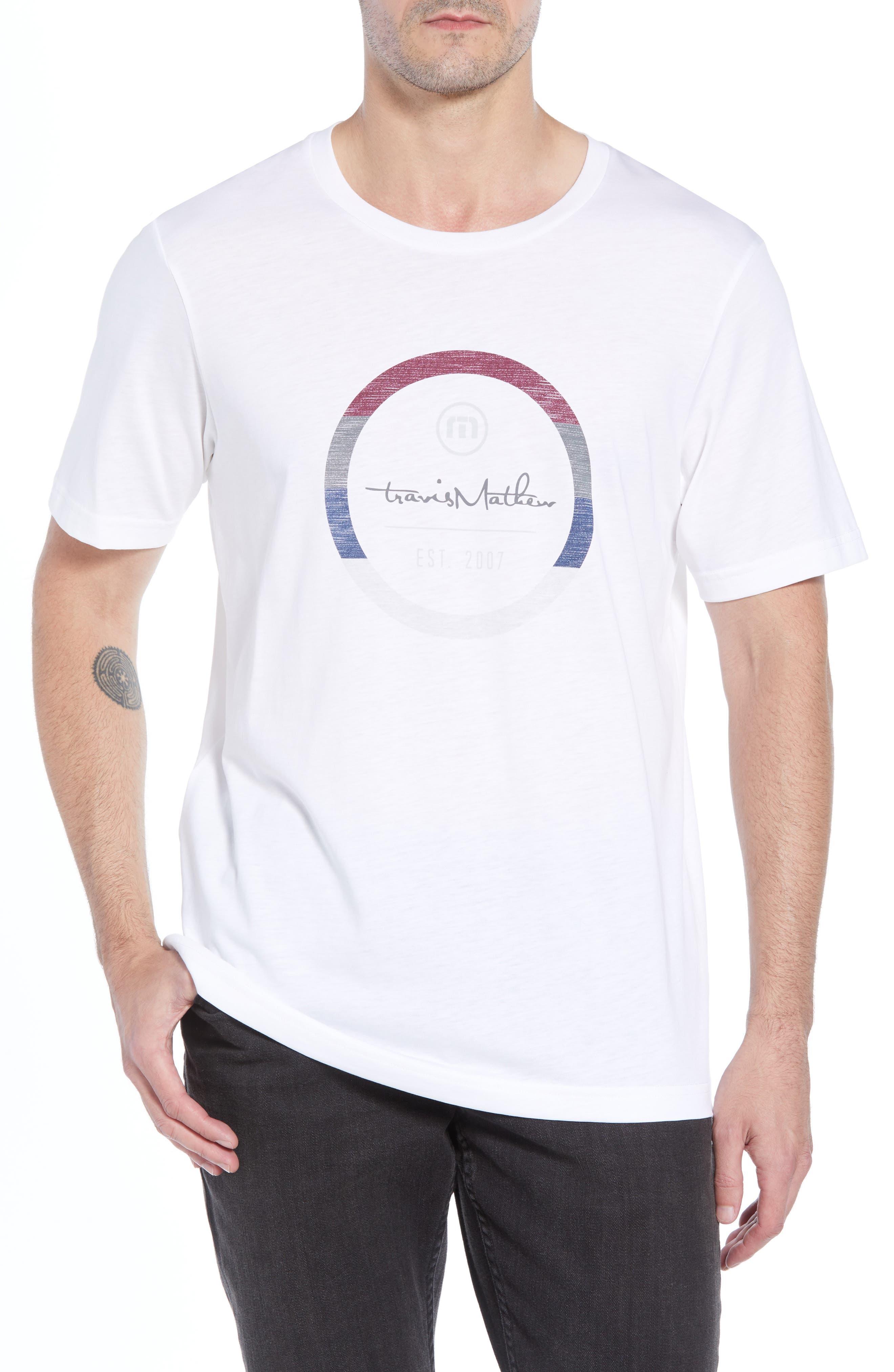 Travis Mathew Wheels Logo Graphic T-Shirt, White