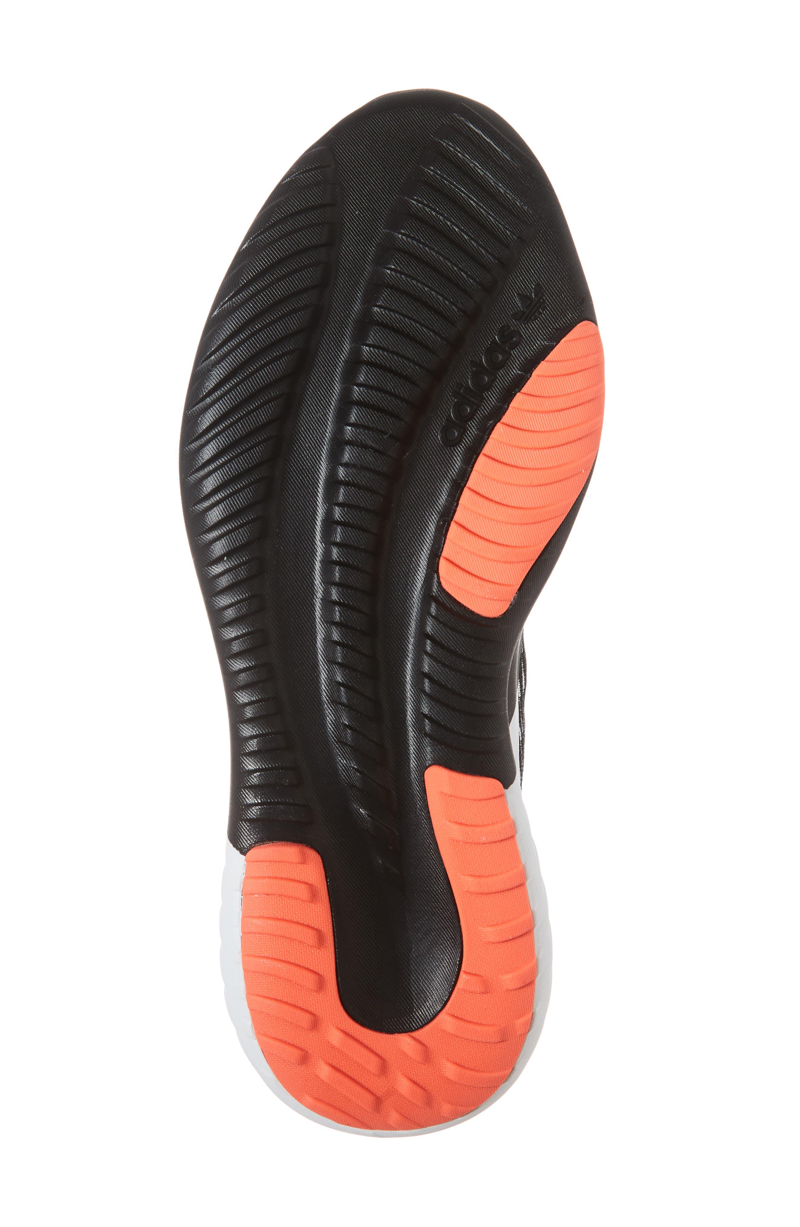 Tubular Dusk Primeknit Sneaker,                             Alternate thumbnail 6, color,                             BLACK/ WHITE/ SOLAR RED