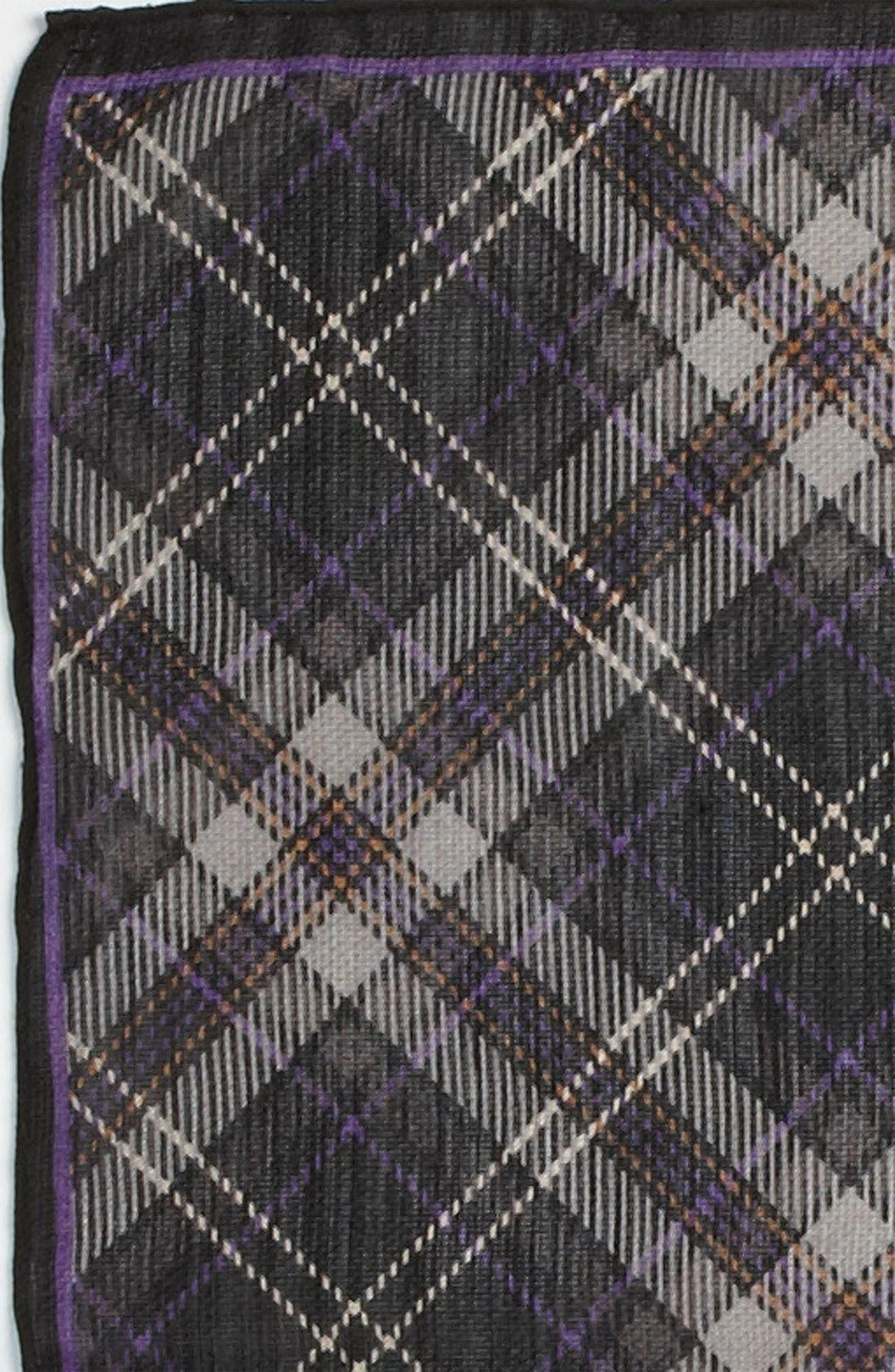 Silk & Wool Pocket Square,                             Alternate thumbnail 2, color,                             030