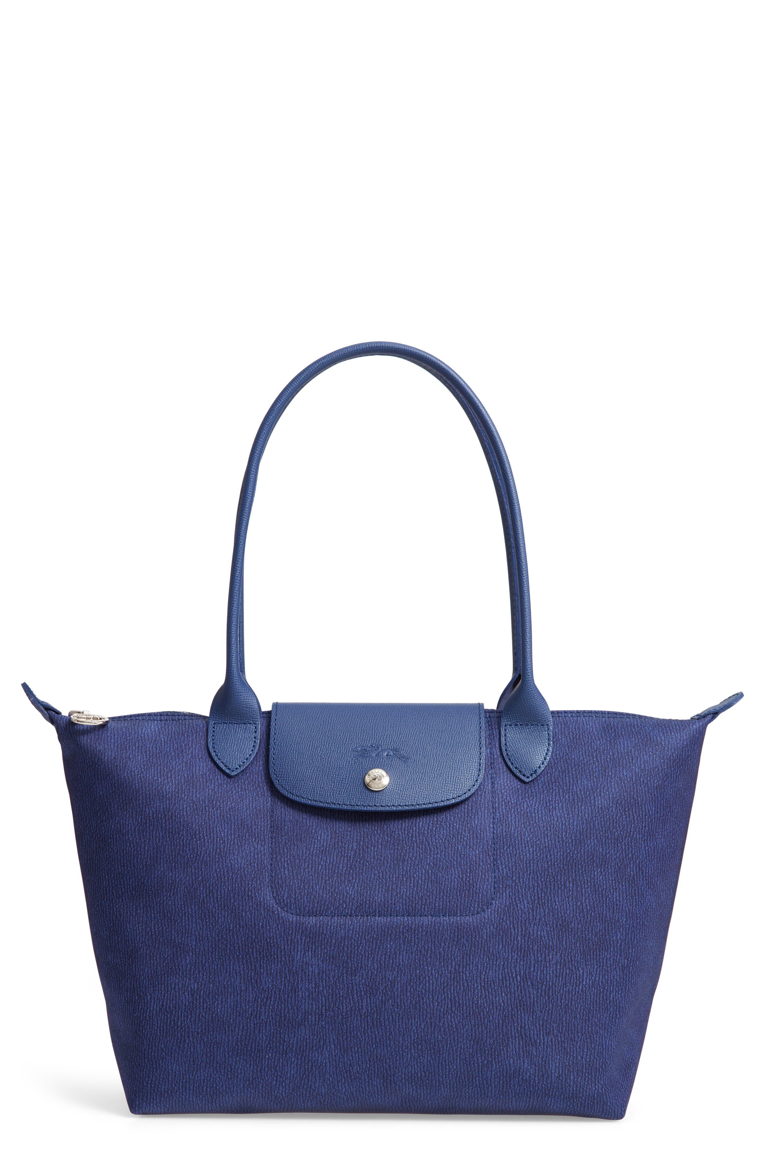 Le Pliage Jeans Small Shoulder Bag,                             Main thumbnail 1, color,                             DENIM