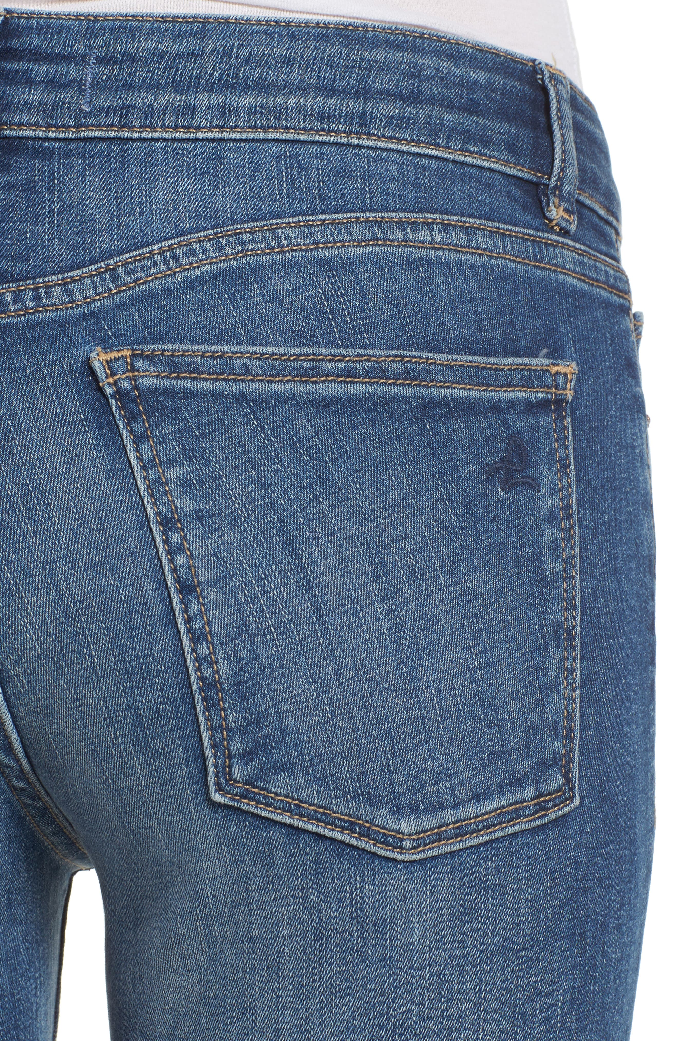 Florence Instasculpt Crop Skinny Jeans,                             Alternate thumbnail 4, color,                             EVERGLADE