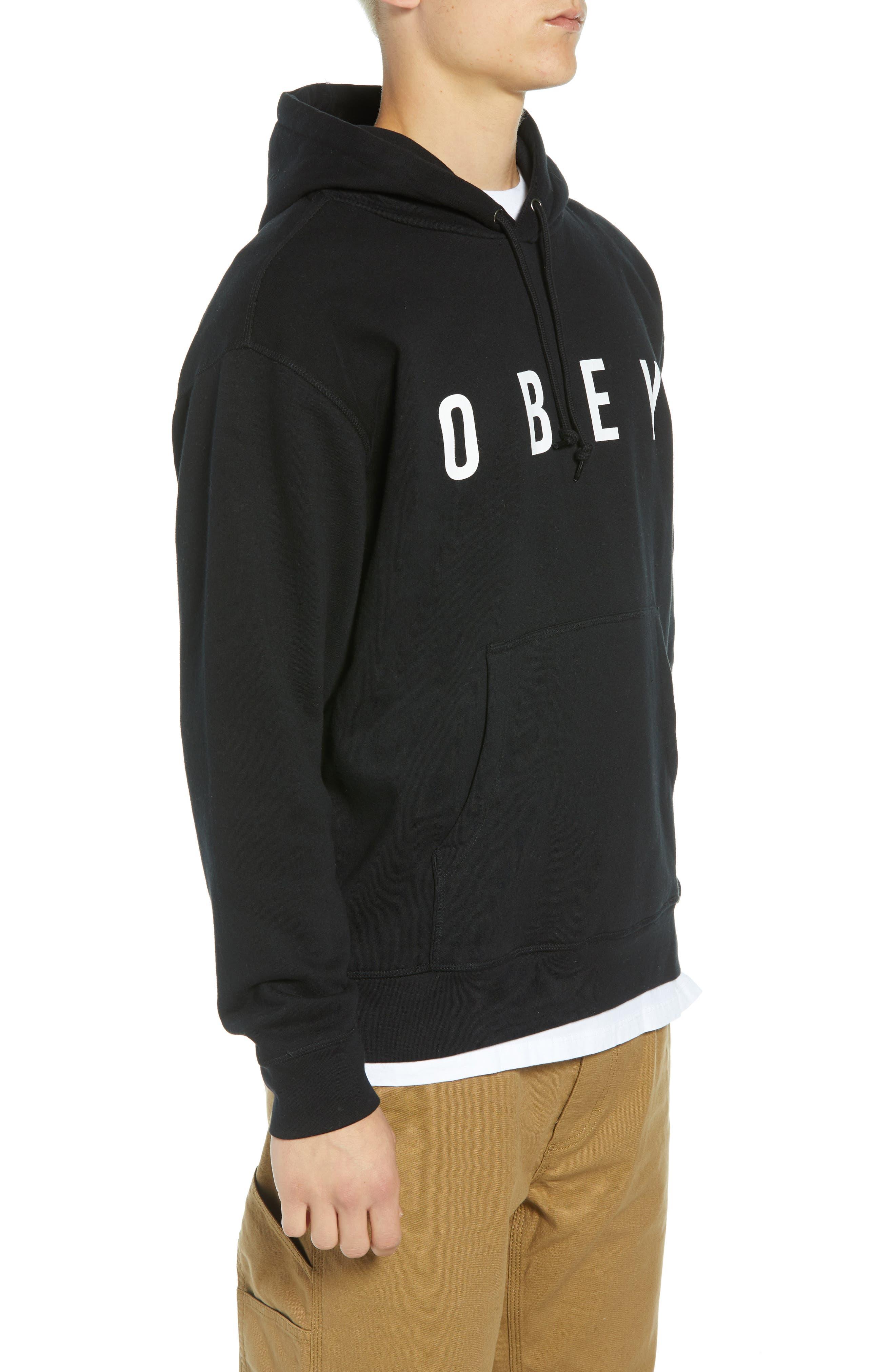 Anyway Hooded Sweatshirt,                             Alternate thumbnail 3, color,                             001